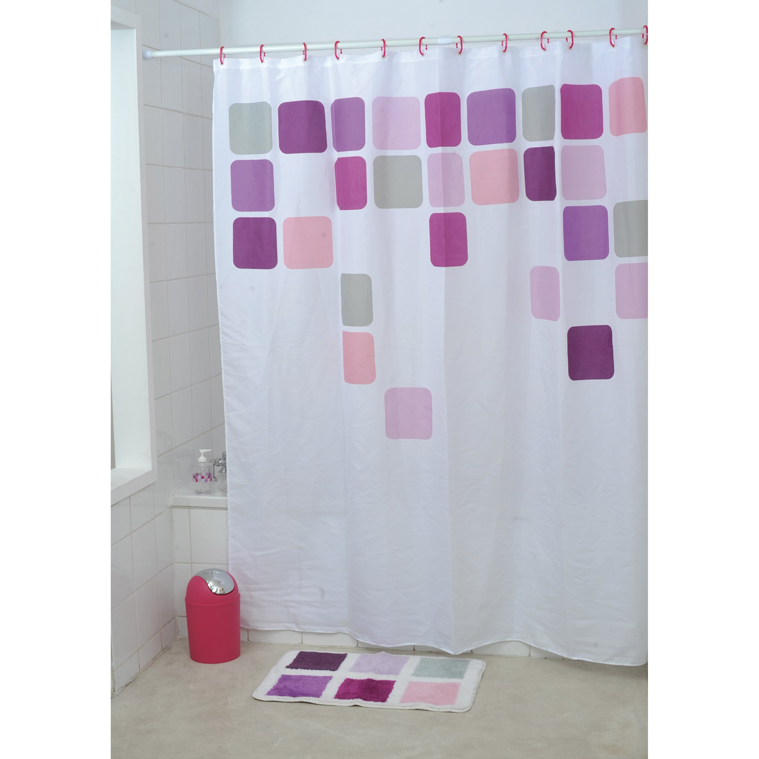Evideco Mosaic Printed Shower Curtain