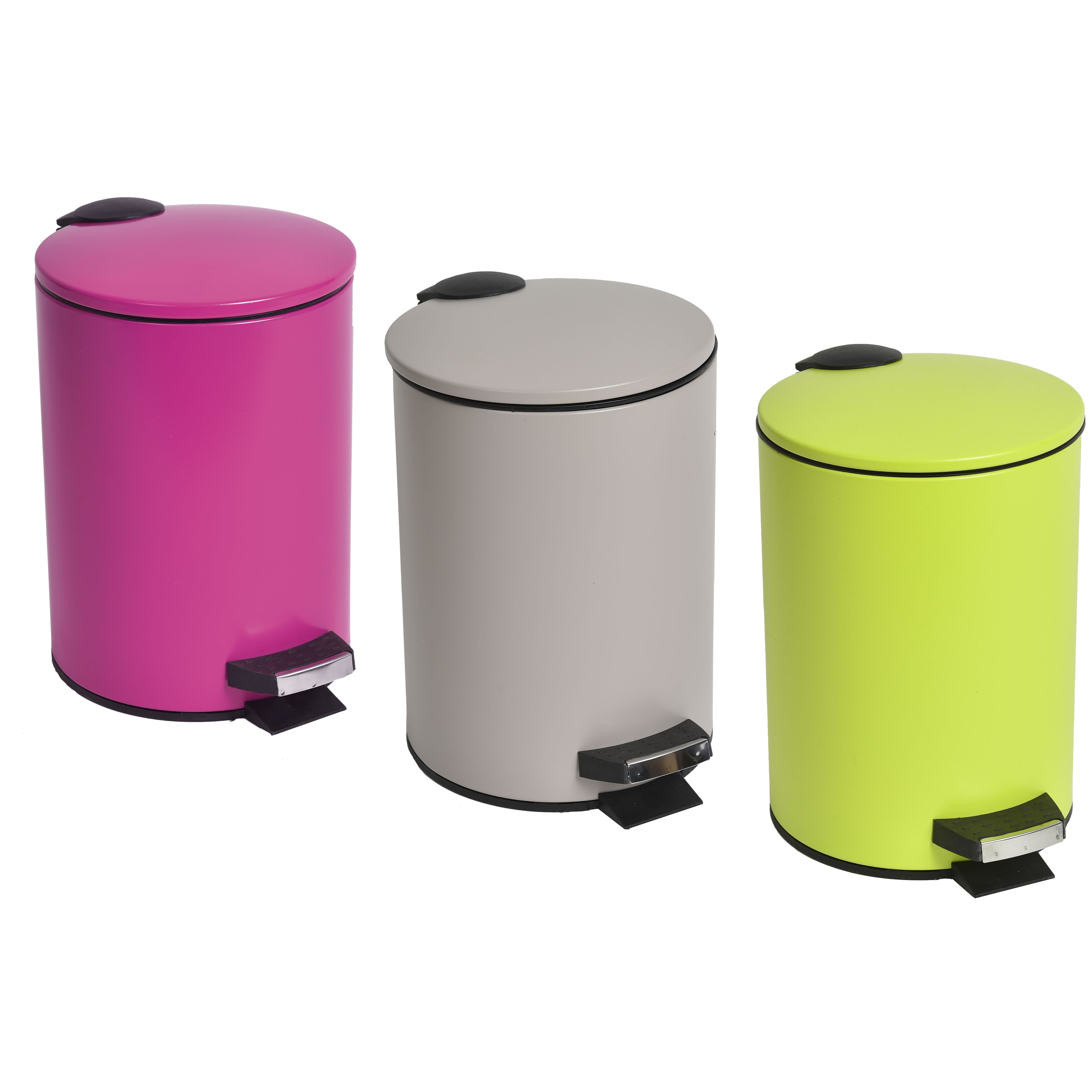 Evideco 0 8 Gal Round Metal Toilet Step Trash Can