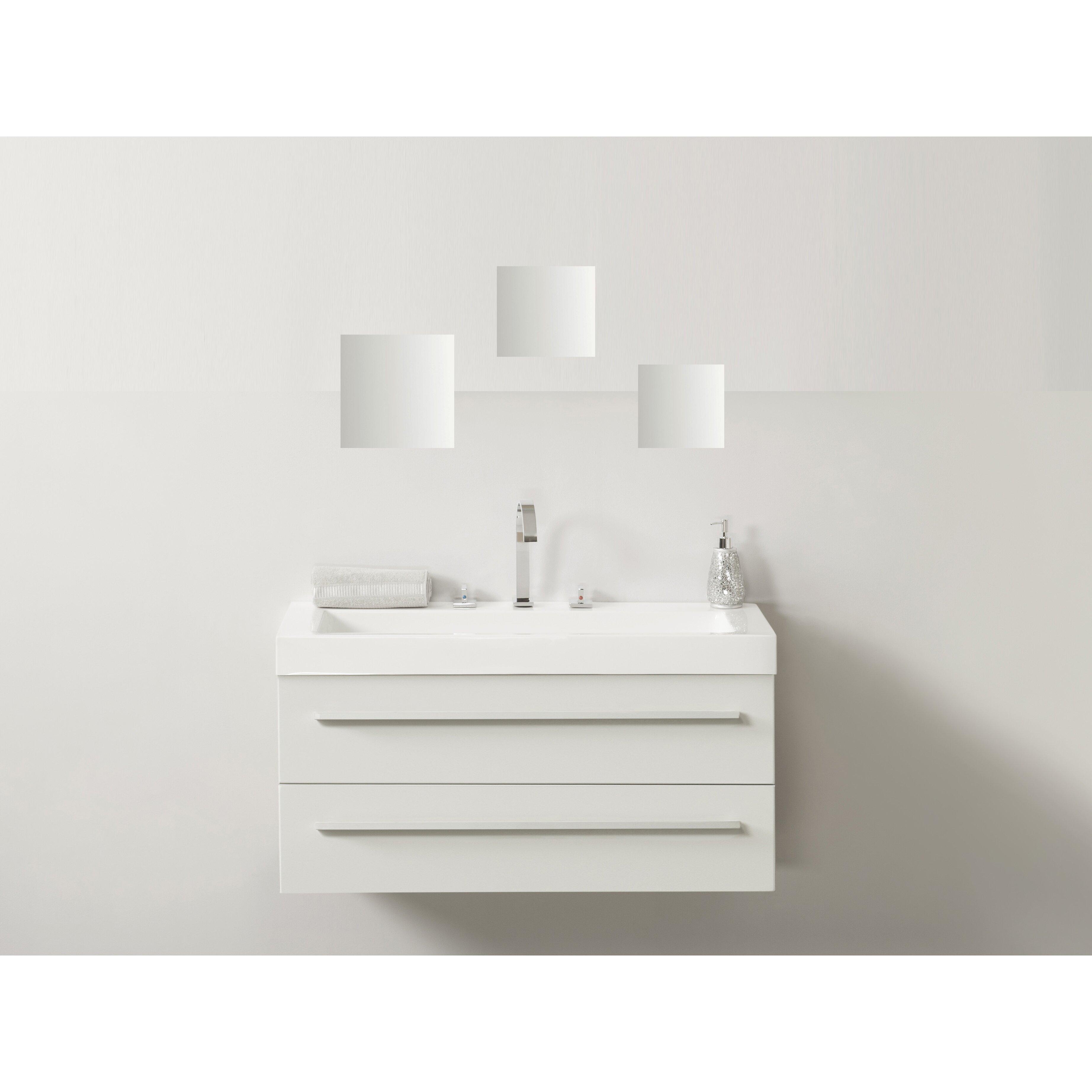 Evideco 3 Piece Decorative Wall Bath Adhesive Square ...