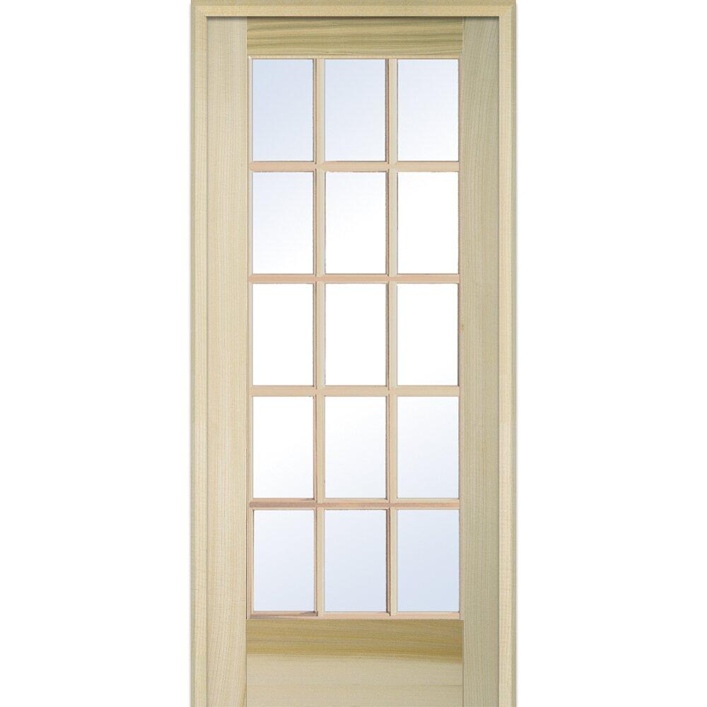 Verona home design wood natural interior french door wayfair for Interior french doors home hardware