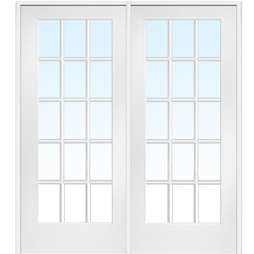 Verona home design mdf interior french door wayfair for Interior french doors home hardware