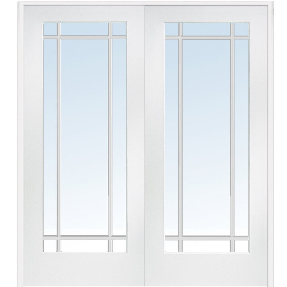 Verona home design mdf primed interior french door for Exterior double french doors for sale