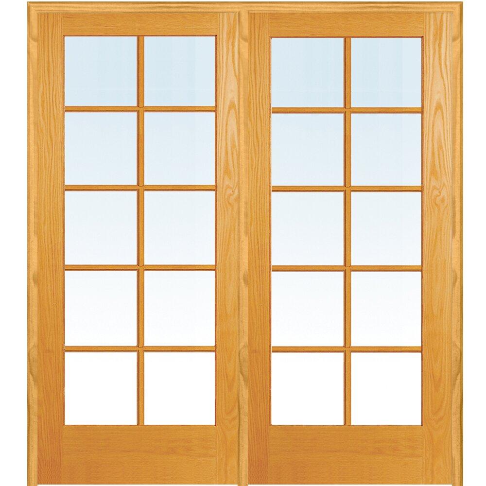 Verona Home Design Wood 2 Panel Natural Interior French Door Wayfair