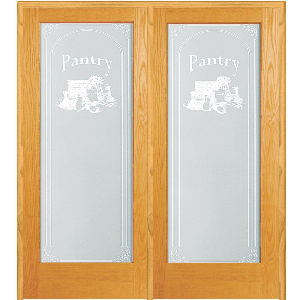 Verona home design pantry wood 2 panel natural interior for Natural wood doors interior