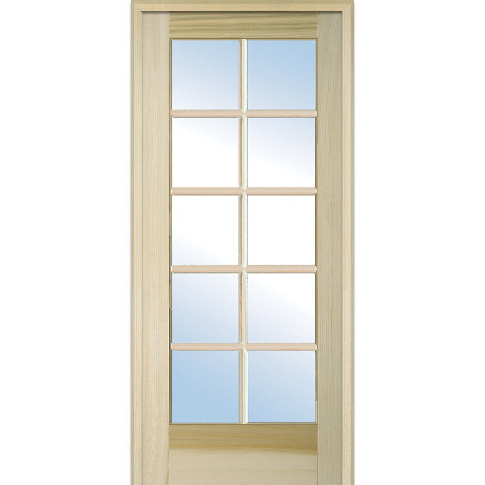 Verona home design wood 1 panel natural interior french for Home hardware french doors