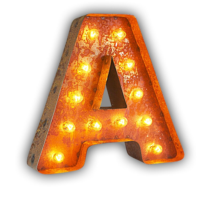 Vintage Letter Wall Lights : Vintage Marquee Lights Letter Wall Decor & Reviews Wayfair