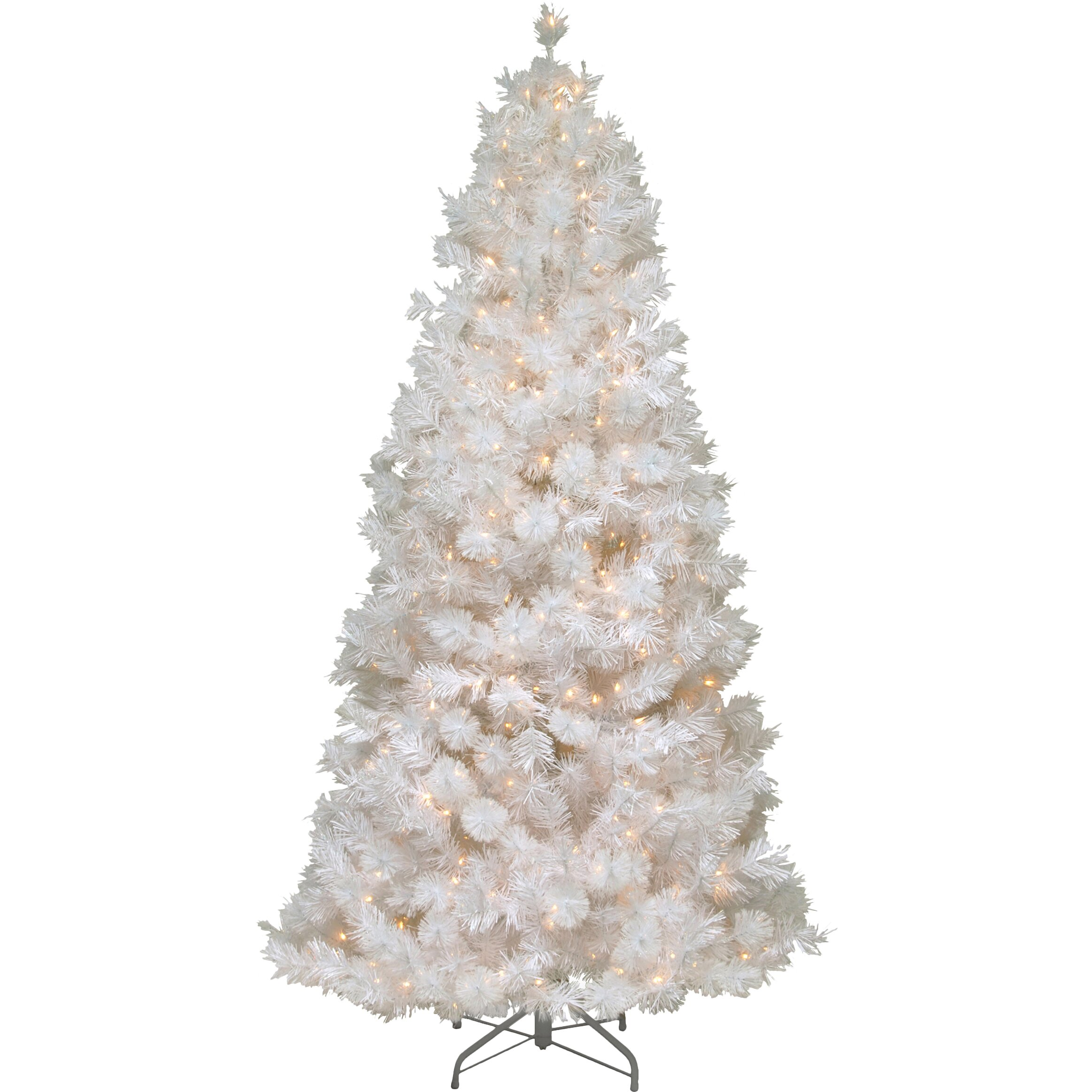 The Holiday Aisle 7.5' White Grande Slim Artificial ...