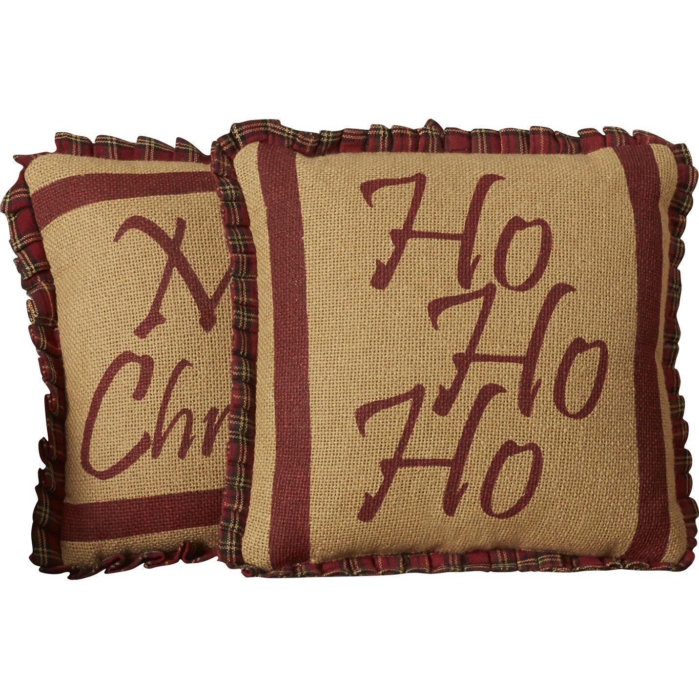 Decorative Pillow Sets : The Holiday Aisle Ho Ho Ho 2 Piece Cotton Throw Pillow Set & Reviews Wayfair