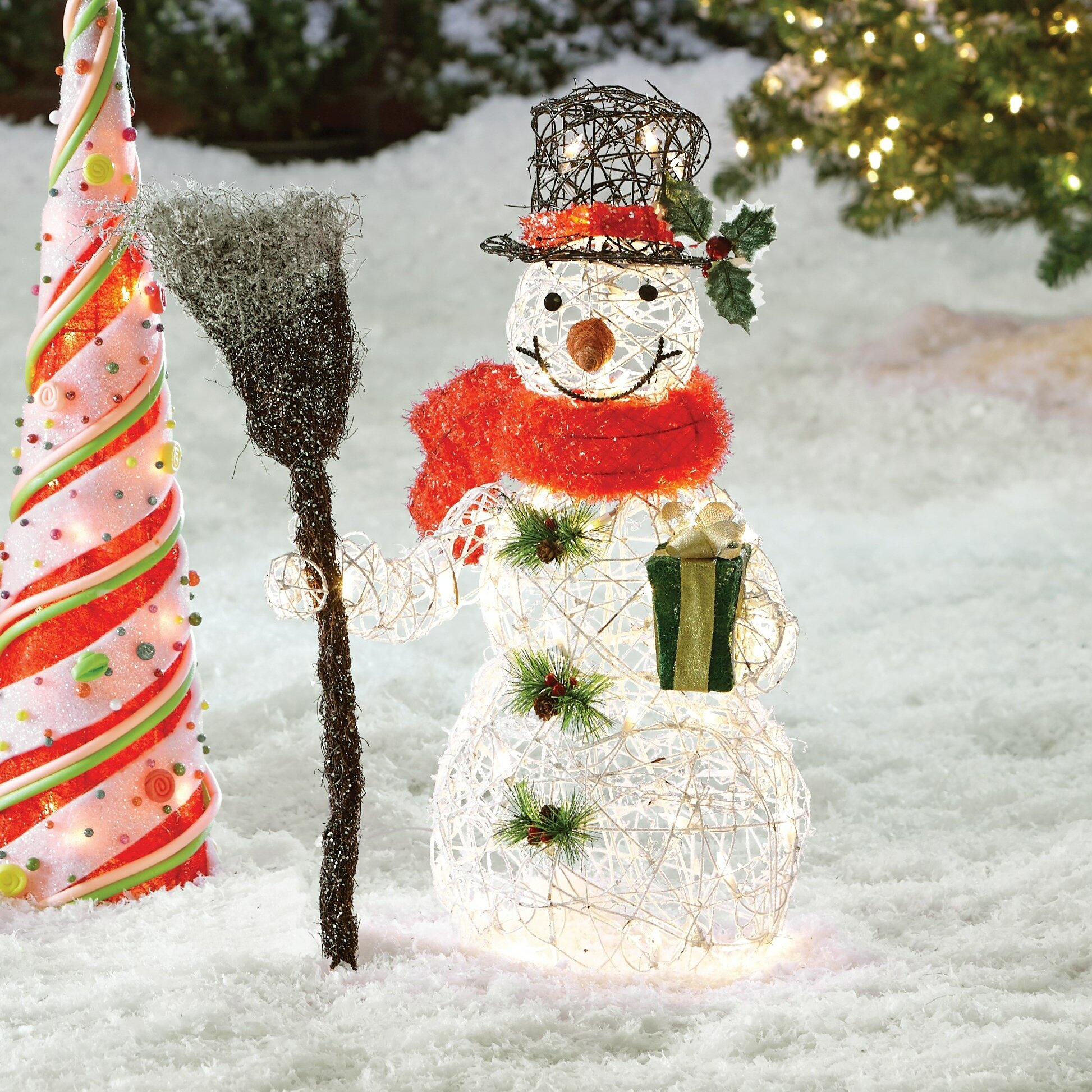 The Holiday Aisle Snowman Christmas Decoration with Clear ...