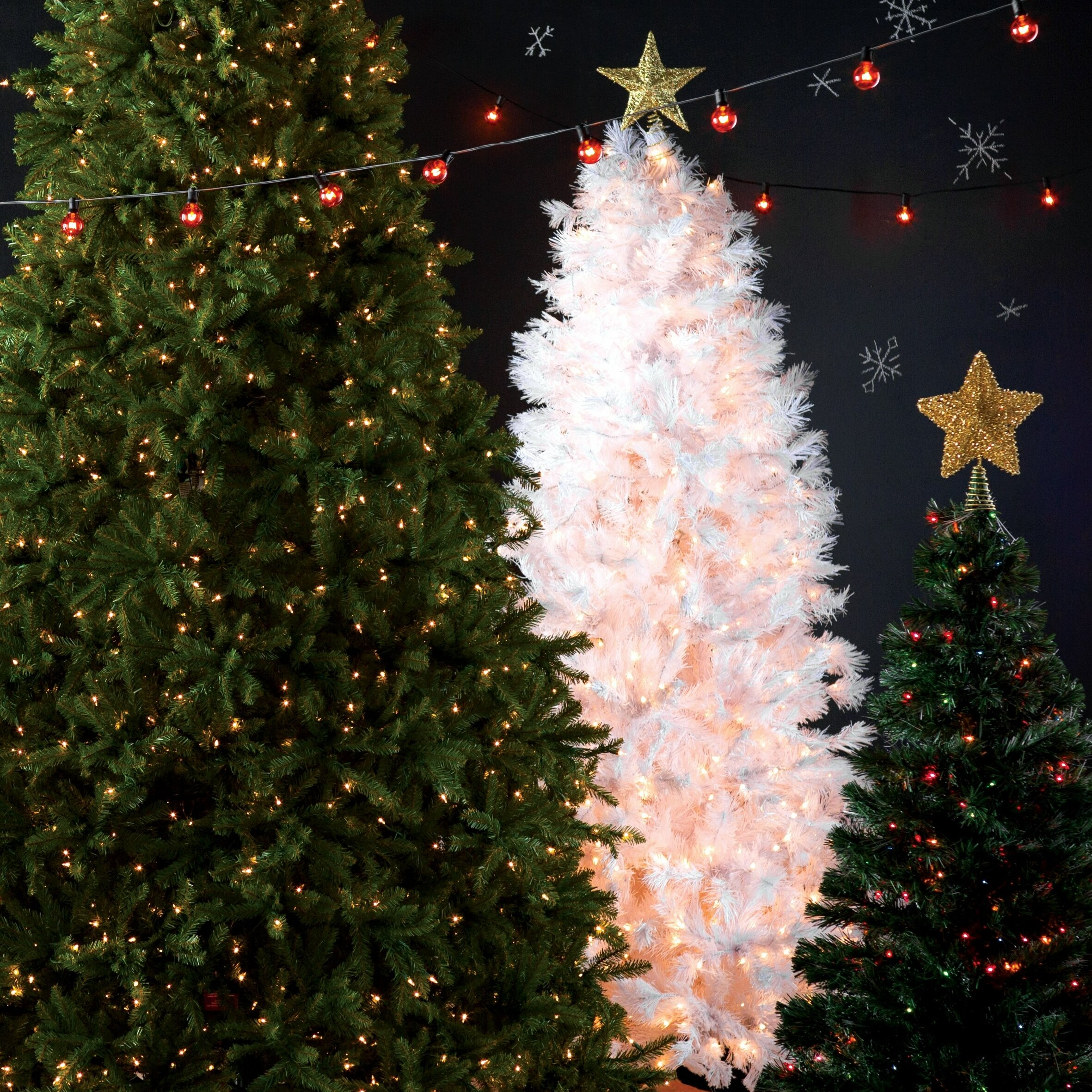The Holiday Aisle 7 5 39 White Grande Slim Artificial