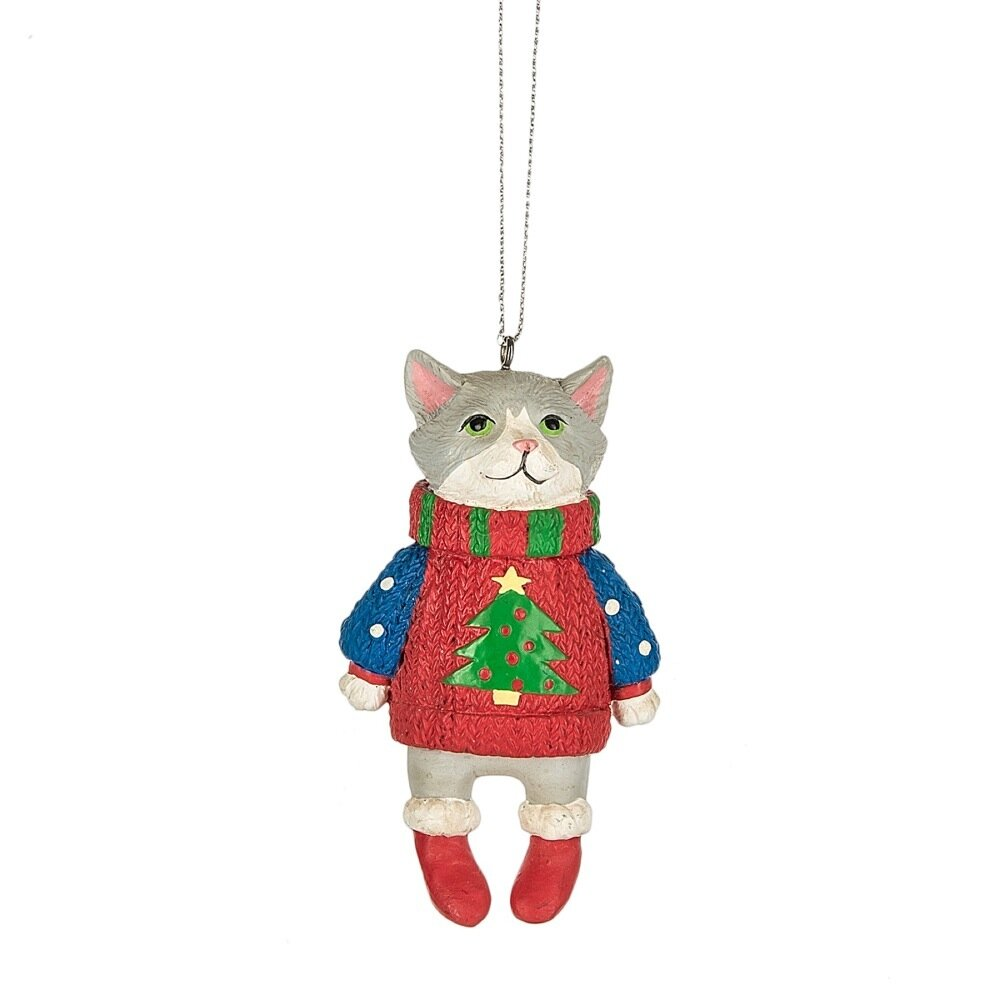 The Holiday Aisle Specialty Cat In Ugly Sweater Ornament