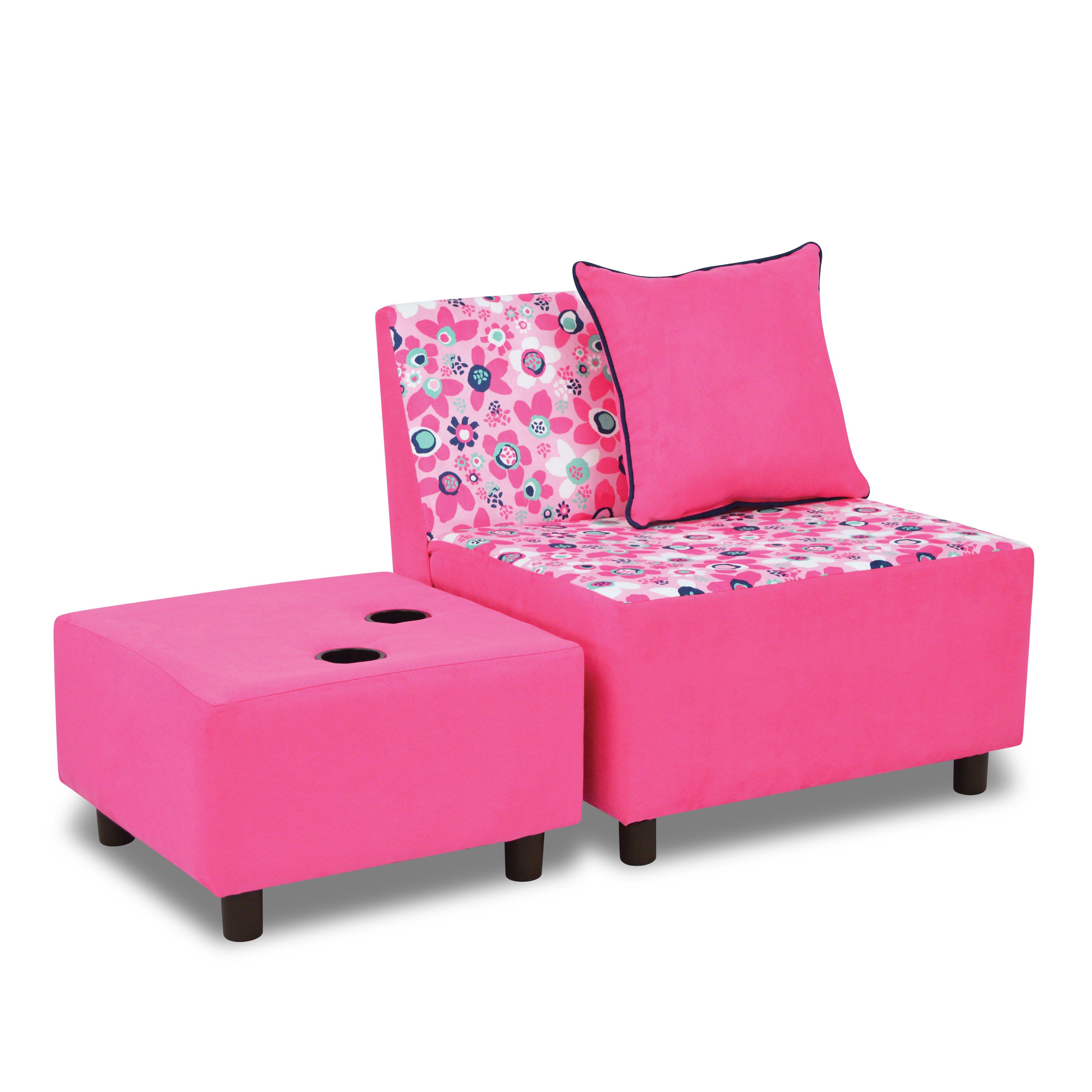 Kangaroo Trading Company Tween Kids Chair And Ottoman With