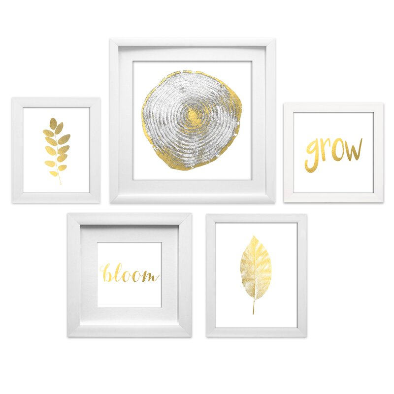 Star Creations Quot Natural Collage Quot 5 Piece Framed Graphic