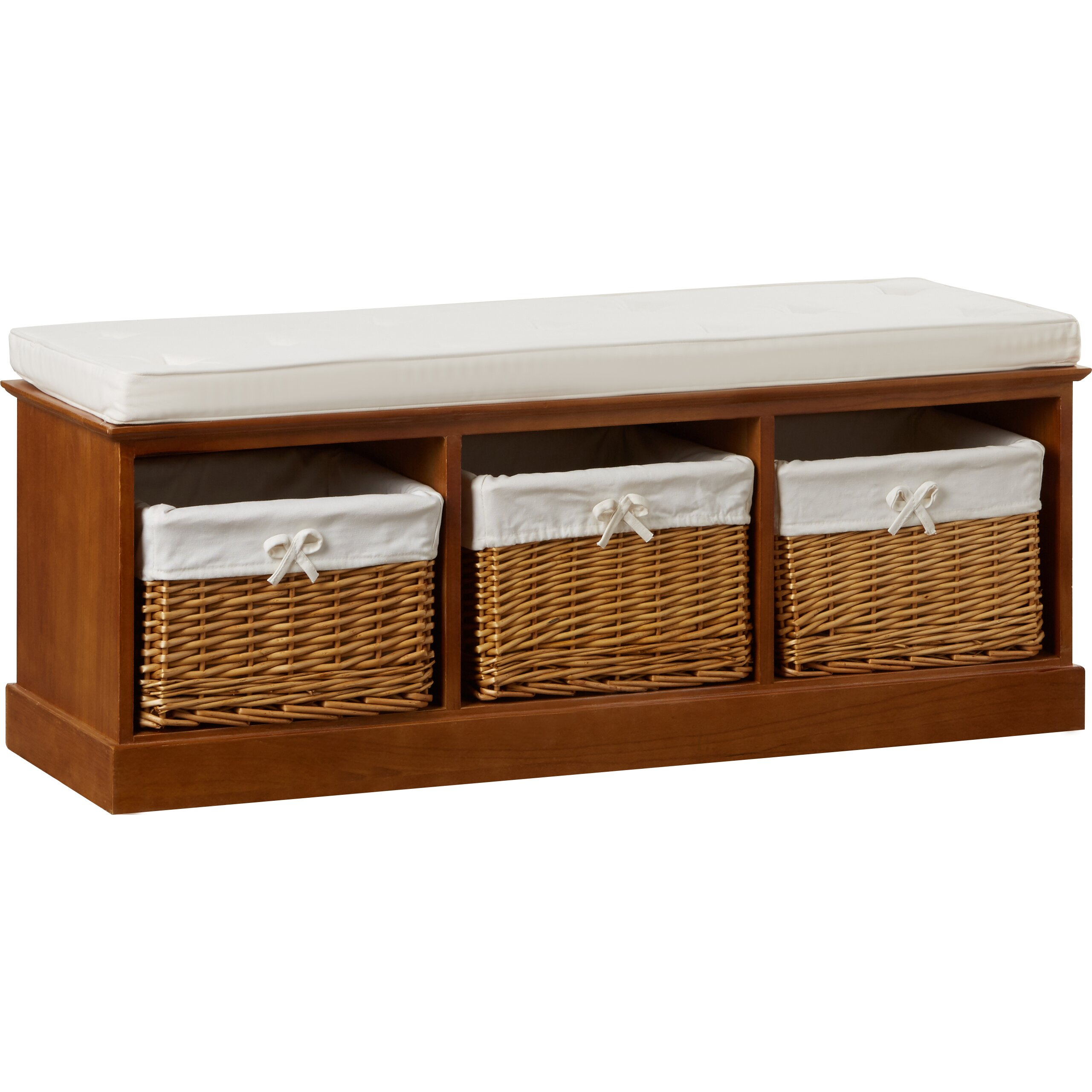Andover Mills Ravenwood Upholstered Storage Bench: Andover Mills Argyle Wood Storage Entryway Bench & Reviews