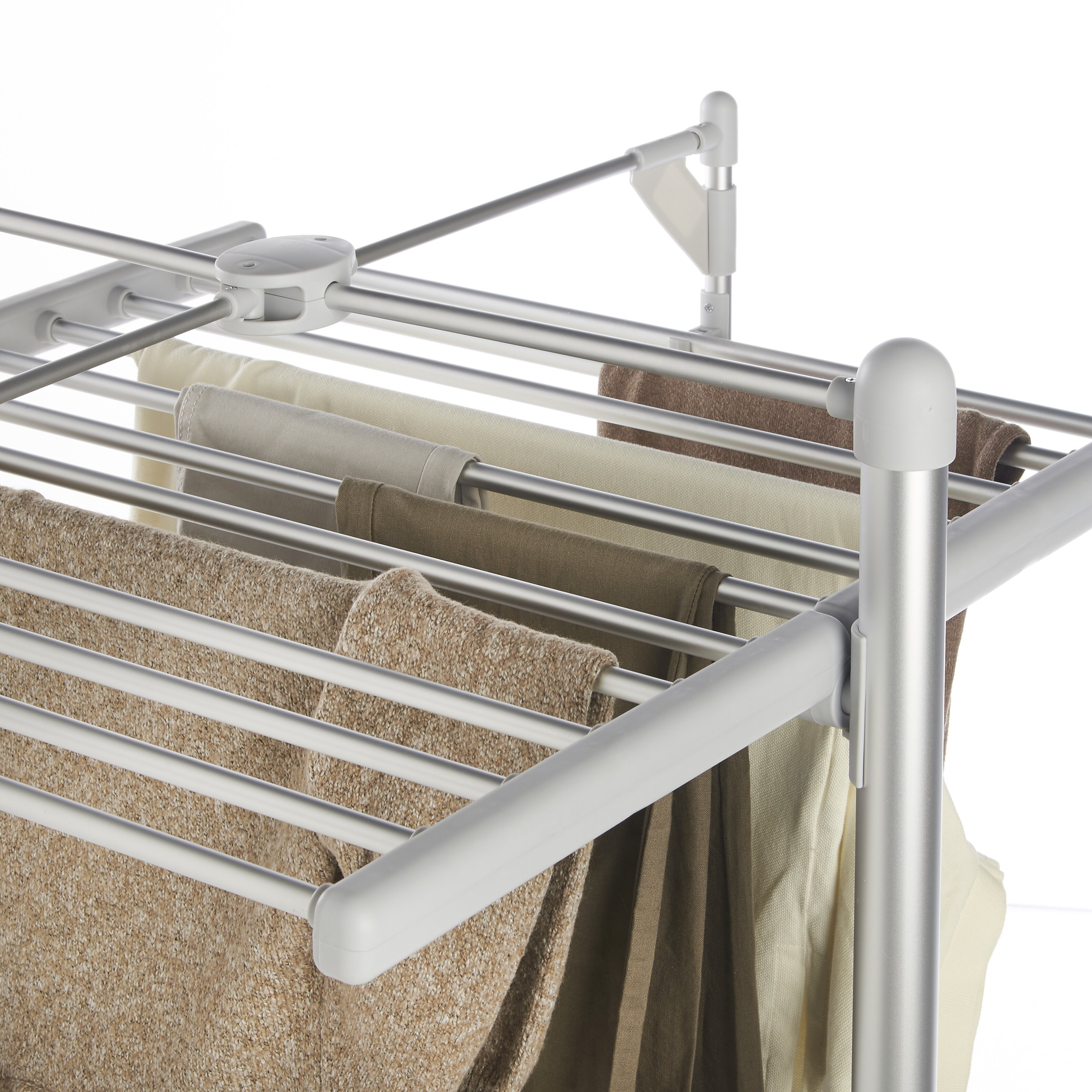 VonHaus Heated Clothes Drying Rack amp Reviews Wayfair : VonHaus Heated Clothes Drying Rack Foldable 3 Tier Indoor Electric Laundry Airer 07 519US from www.wayfair.com size 3167 x 3167 jpeg 1795kB