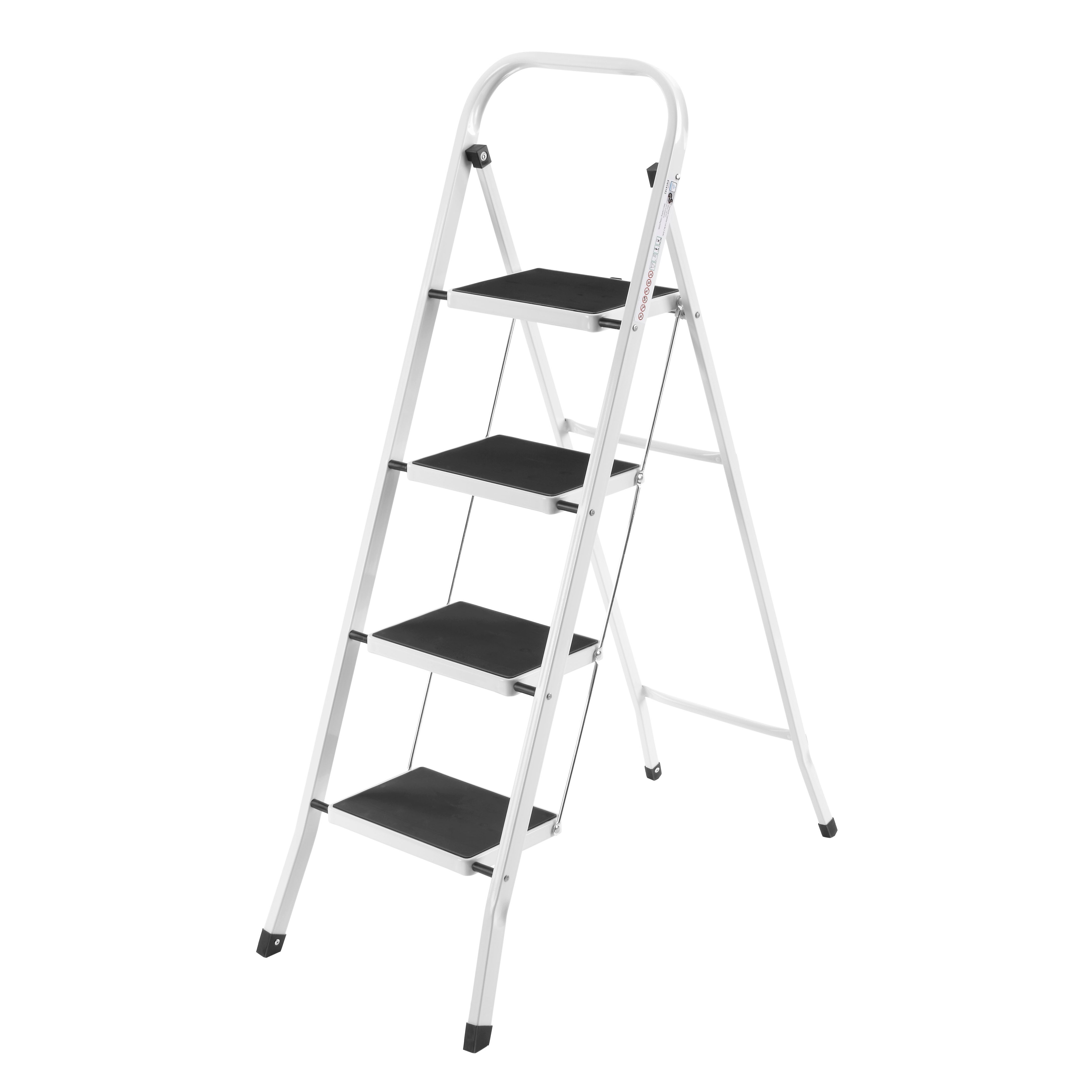 Vonhaus 4 Step Steel Step Stool With 330 Lb Load Capacity