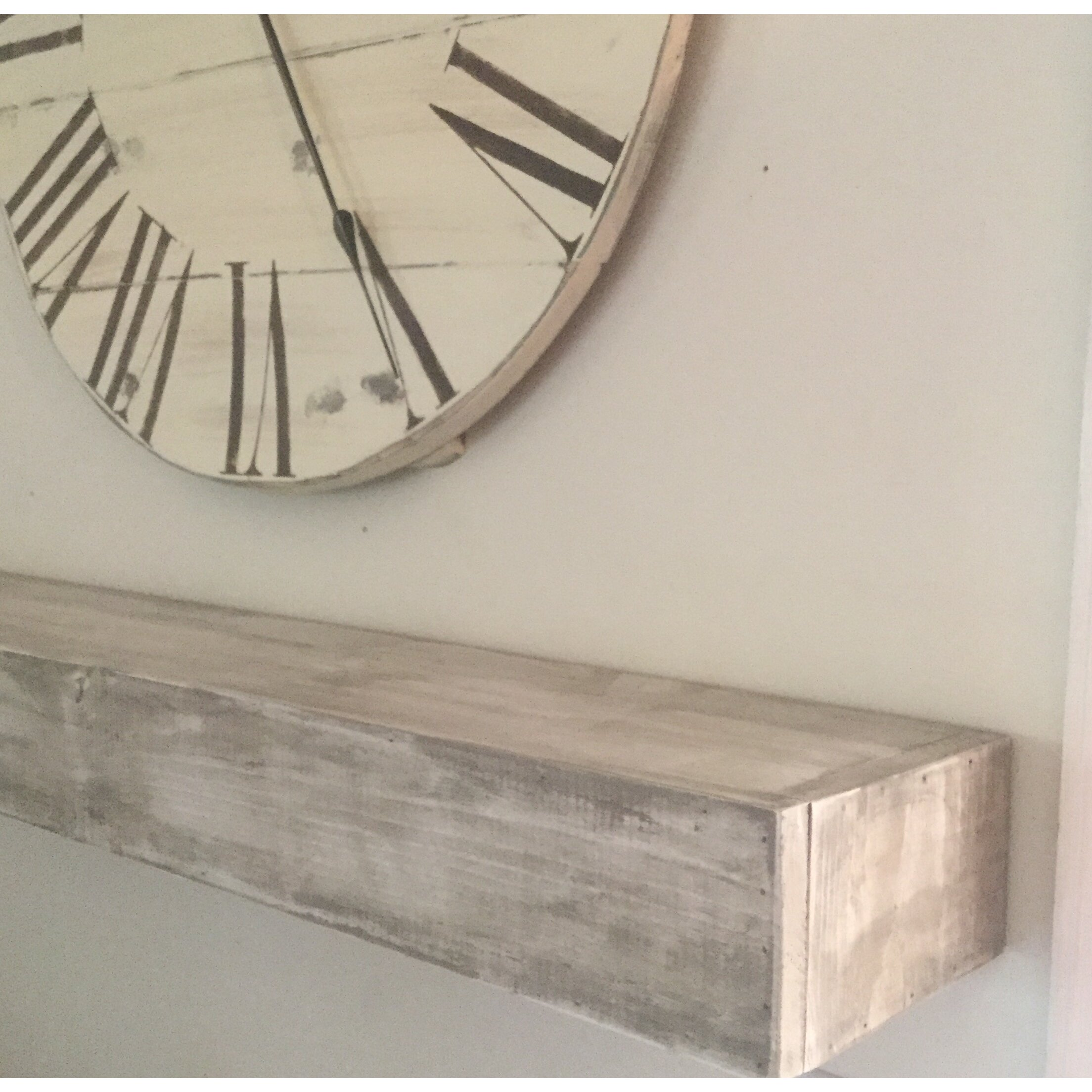 essex crafted wood products floating shelf in shabby white solid wood handmade rustic style