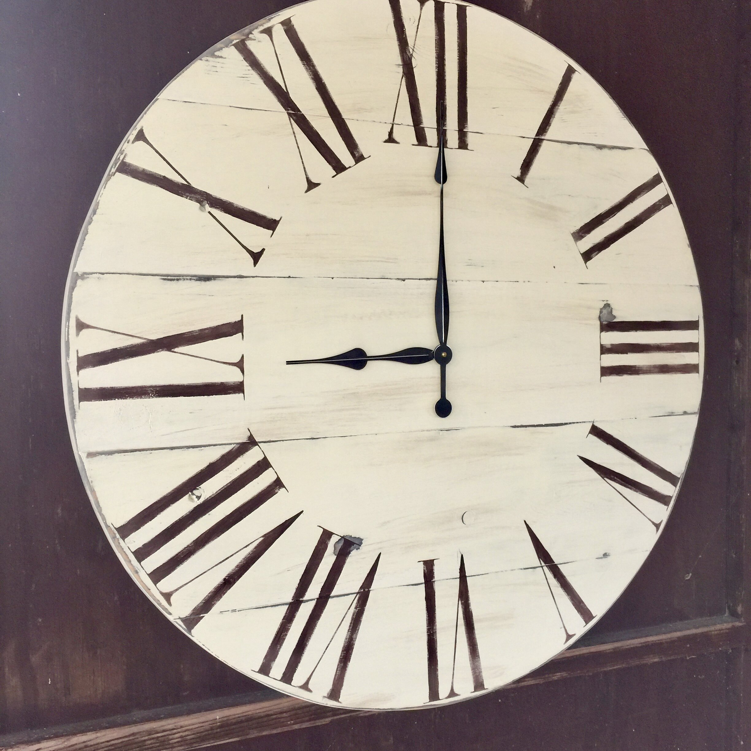 essex crafted wood products oversized 34 quot upminster vintage style painted wood wall clock