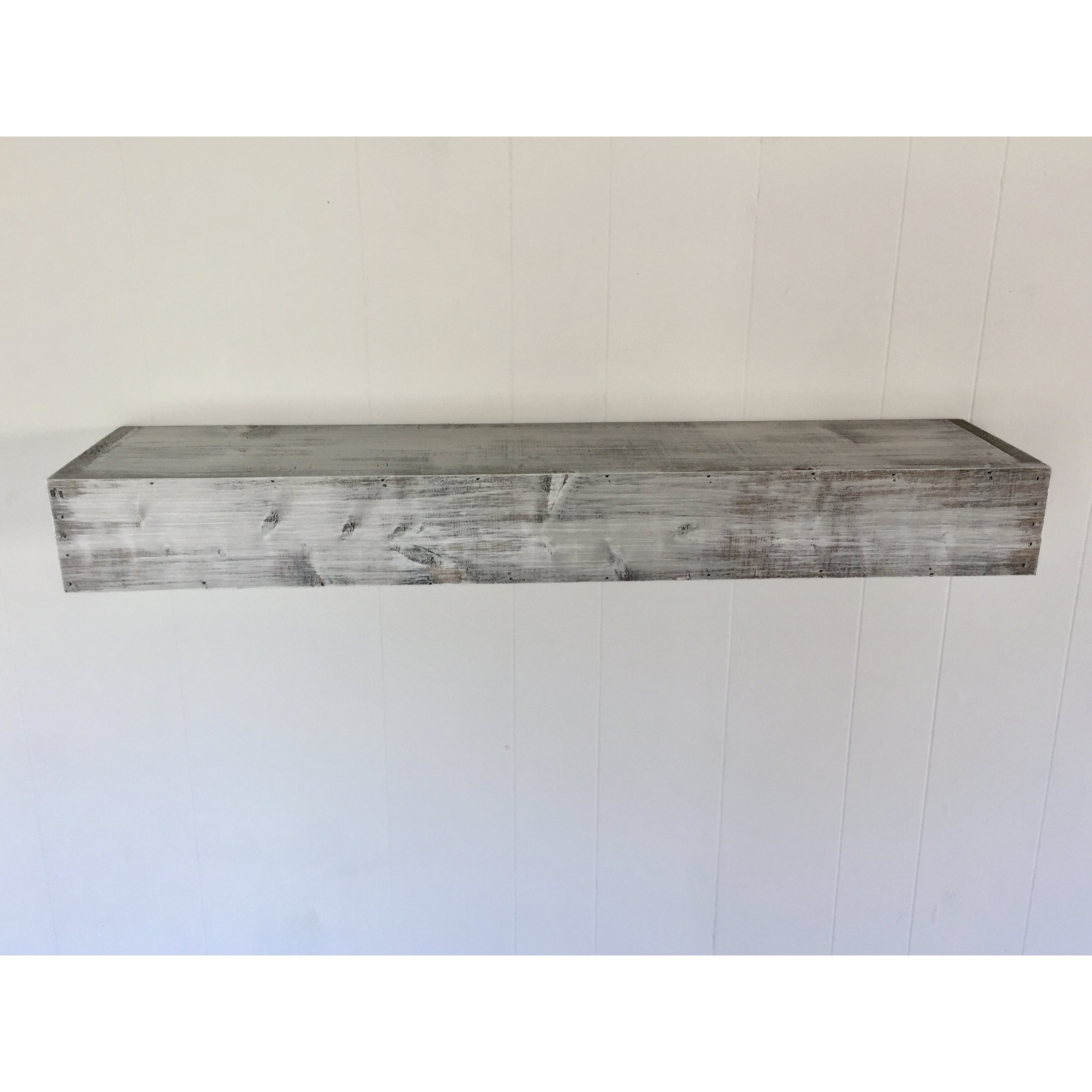 Essex Hand Crafted Wood Products Floating Shelf In Shabby