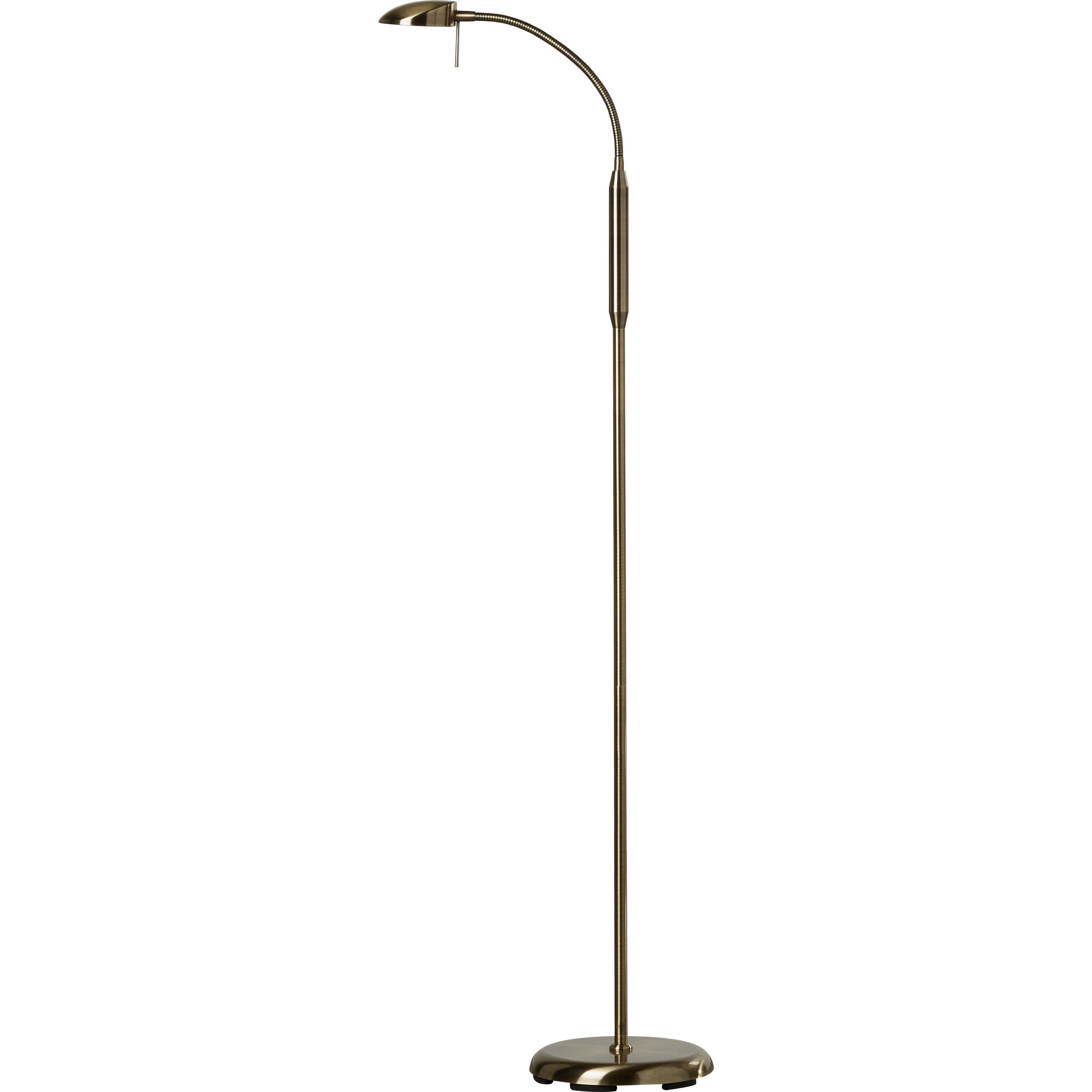 Riley ave tereza gooseneck 138cm reading floor lamp for Reading floor lamp reviews