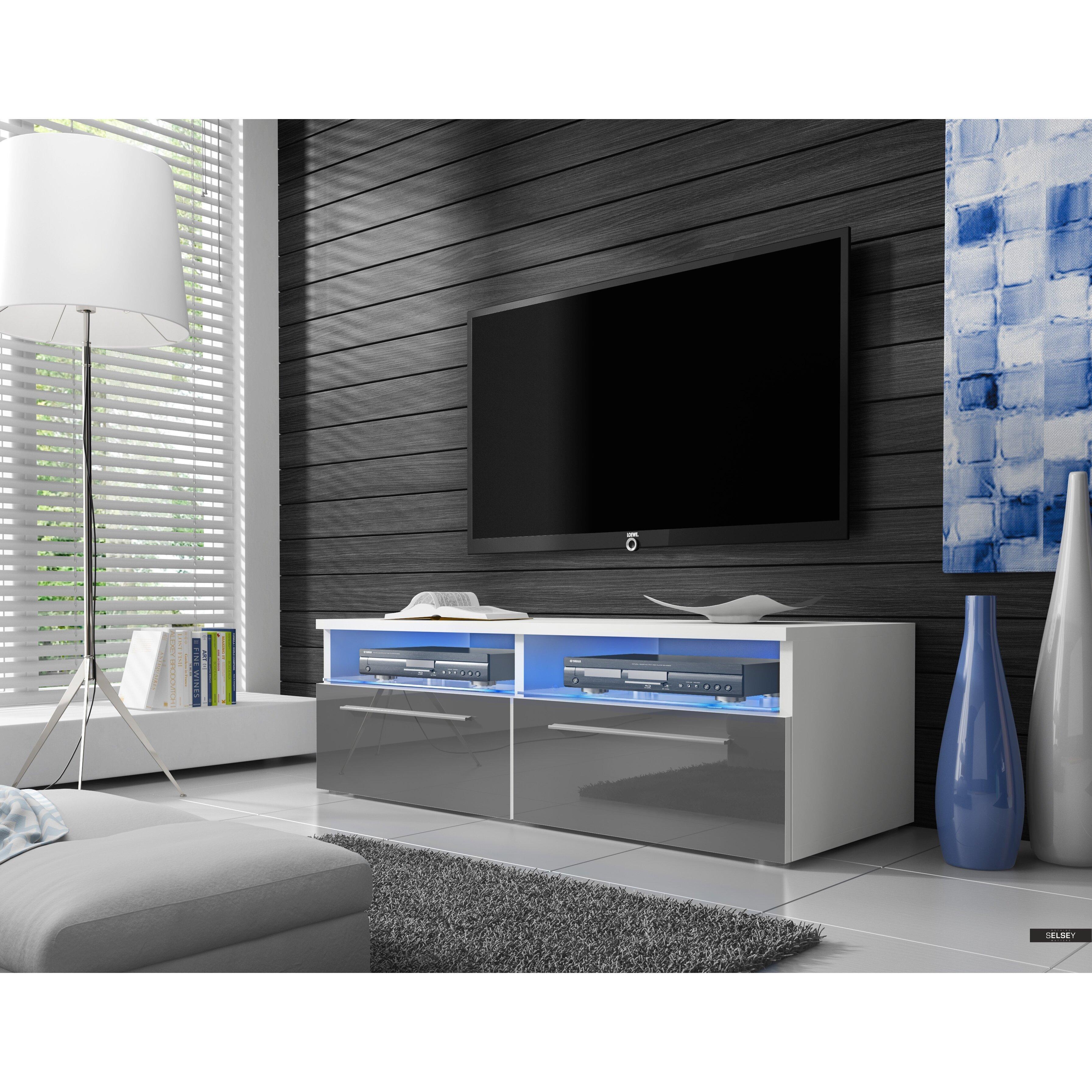 Selseypolska siena tv stand wayfair uk for Eclairage stand