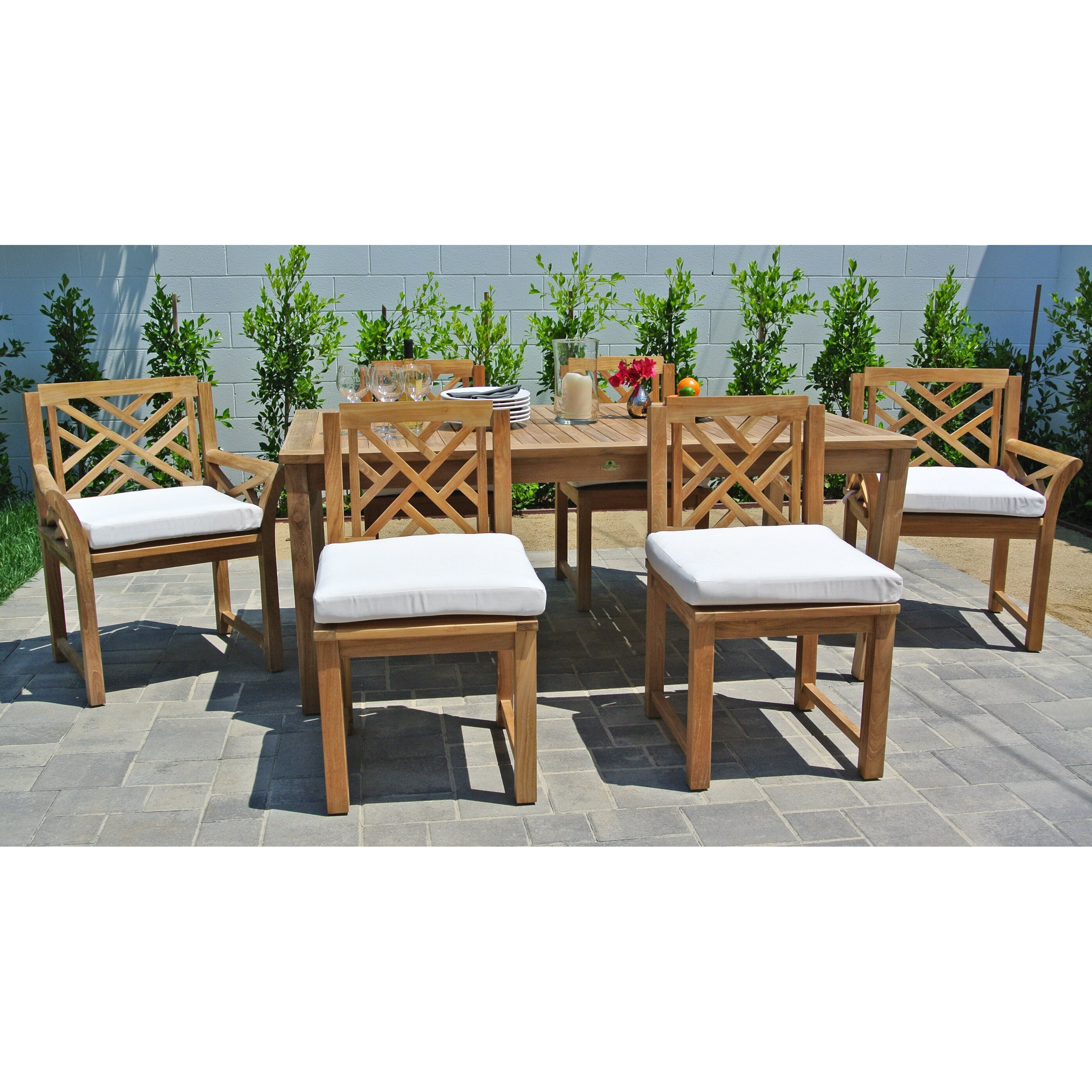 Willow creek designs monterey 7 piece dining set wayfair for Willow creek designs