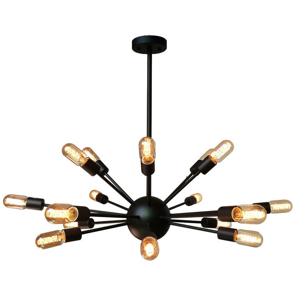 Westmen lights sputnik 18 light chandelier reviews wayfair for Wayfair industrial lamp