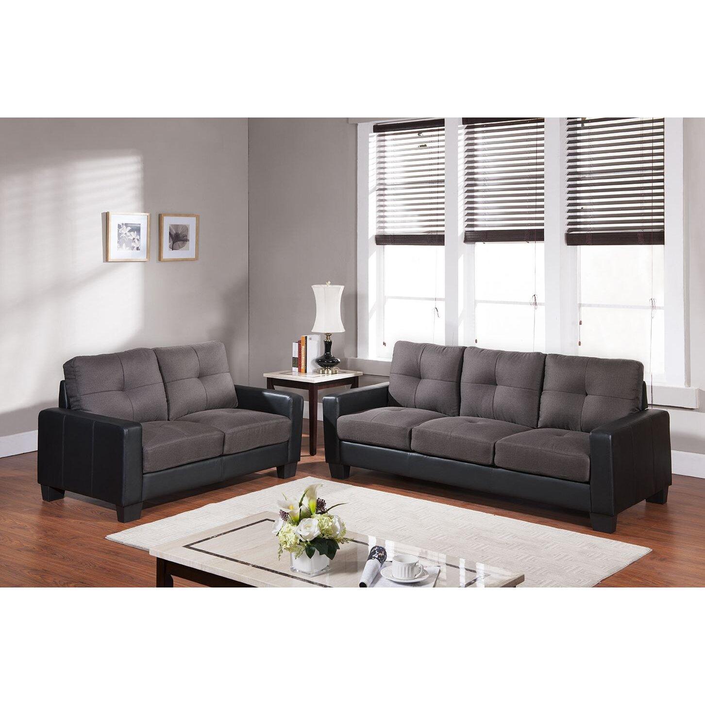 Living In Style Middleton Sofa   Wayfair