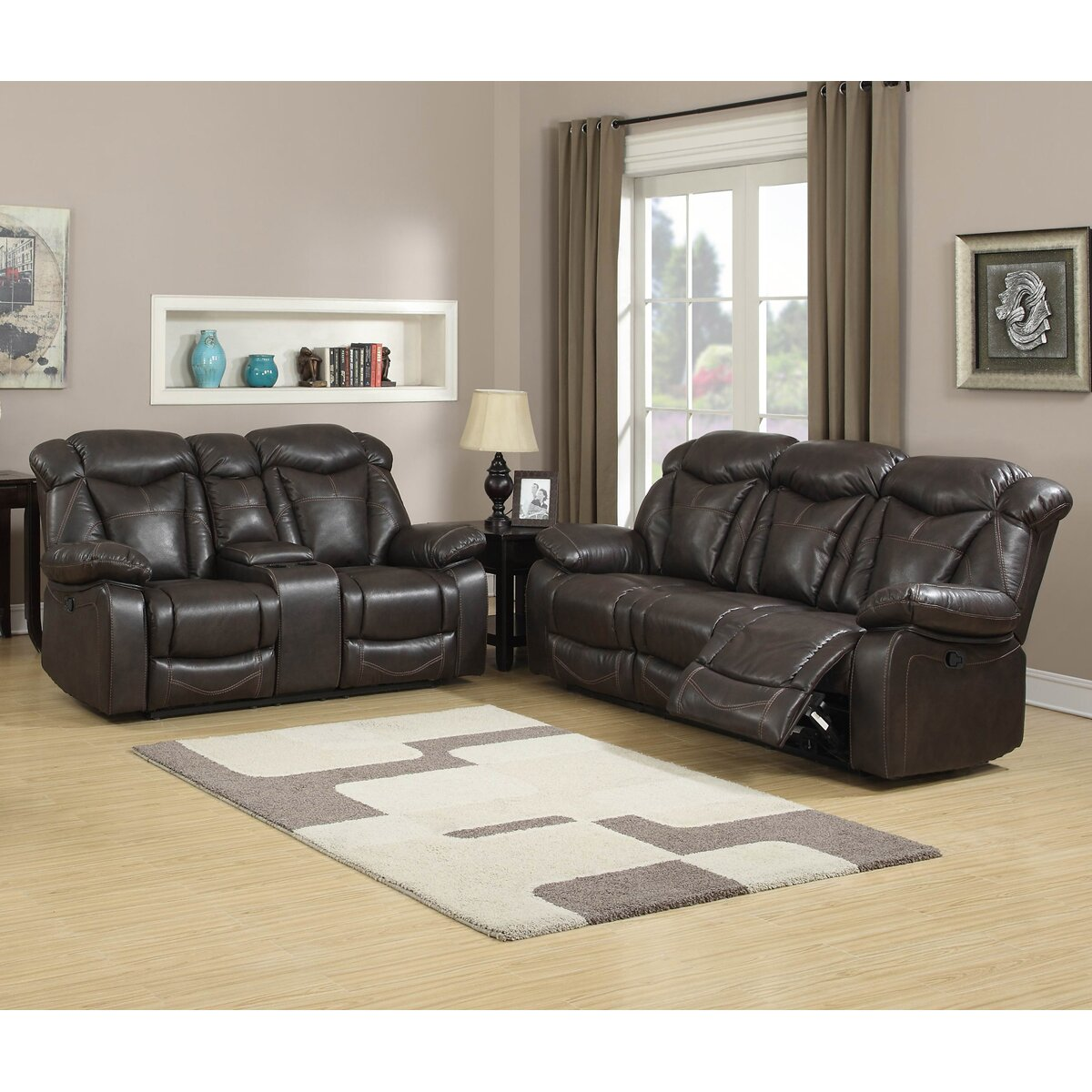 Living in style madison 2 piece living room set for 2 piece living room furniture set