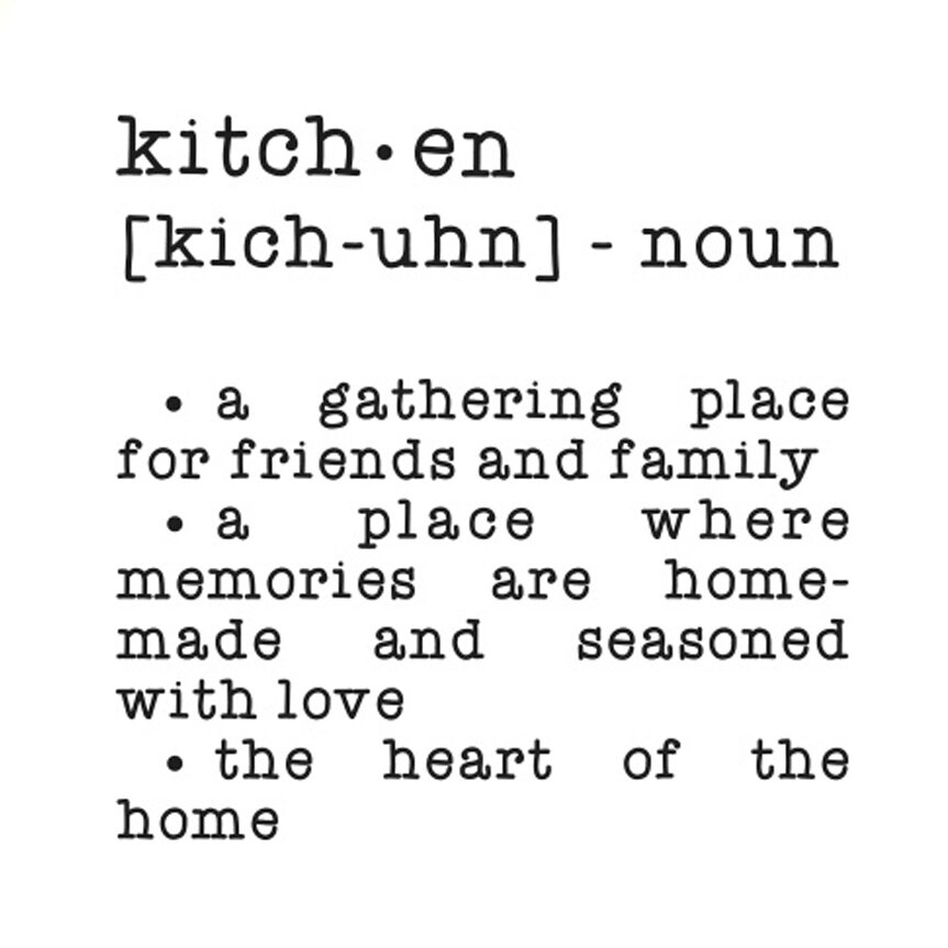 Kitchen Dictionary: Cut It Out Wall Stickers Kitchen Dictionary Definition