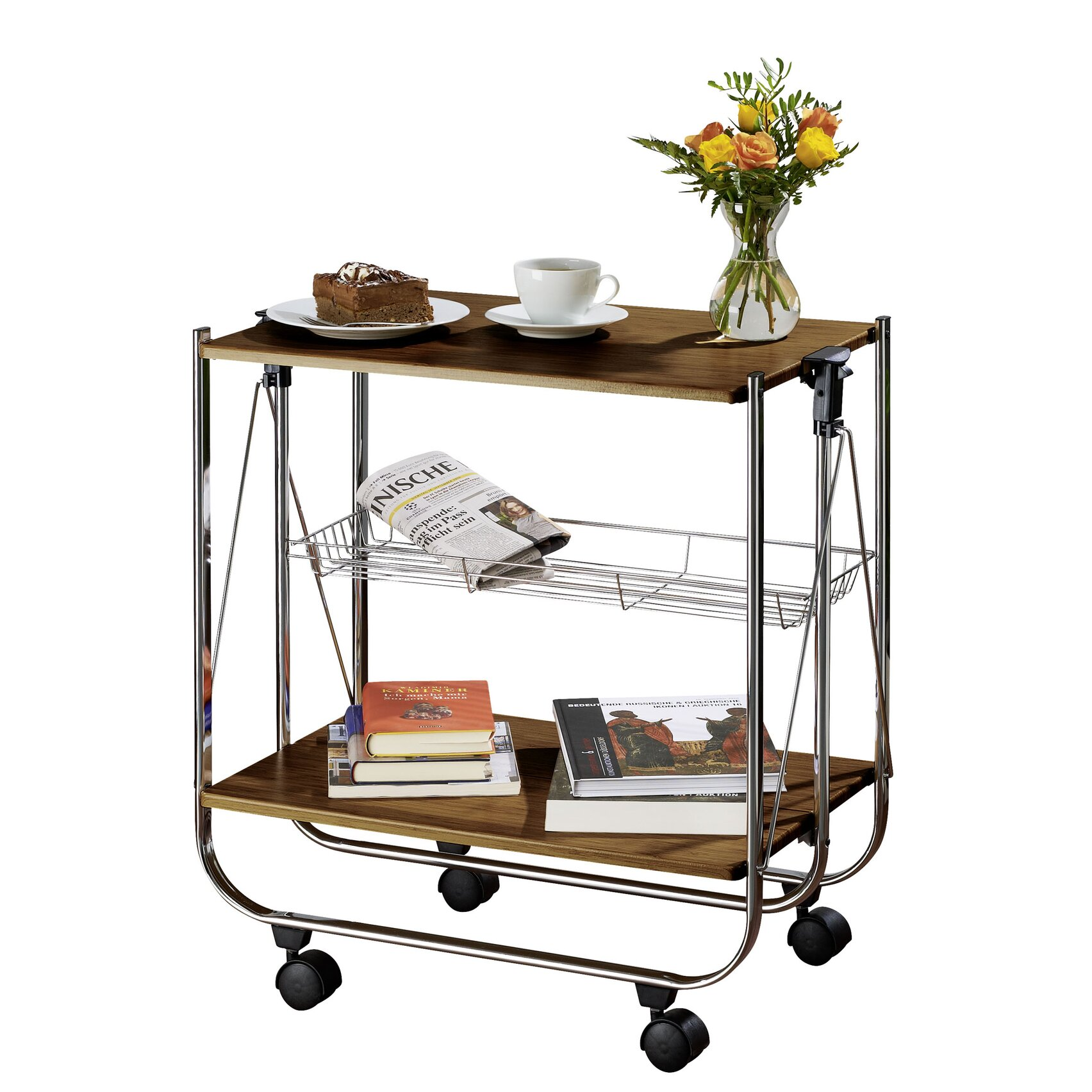 Wenko Inc Dinett Catering Trolley Serving Cart Wayfair