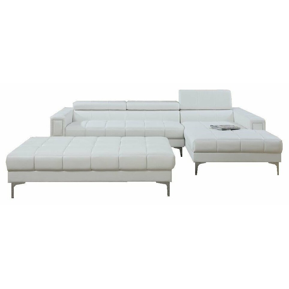 Infini Furnishings Sectional And Ottoman Set Reviews