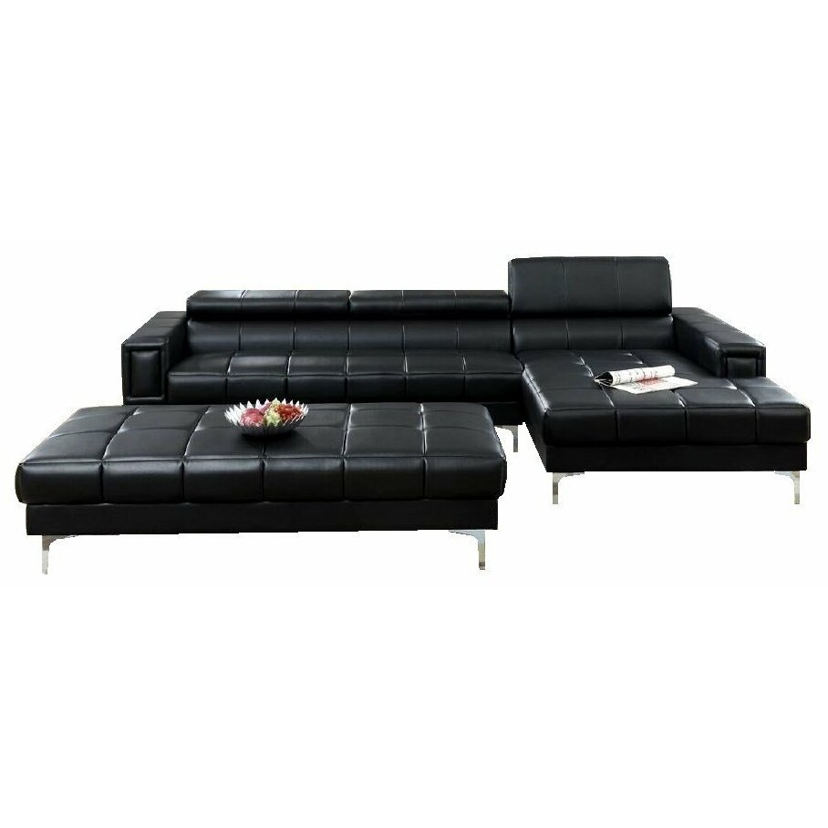 infini furnishings sectional and ottoman set reviews With sectional sofa and ottoman set by infini furnishings