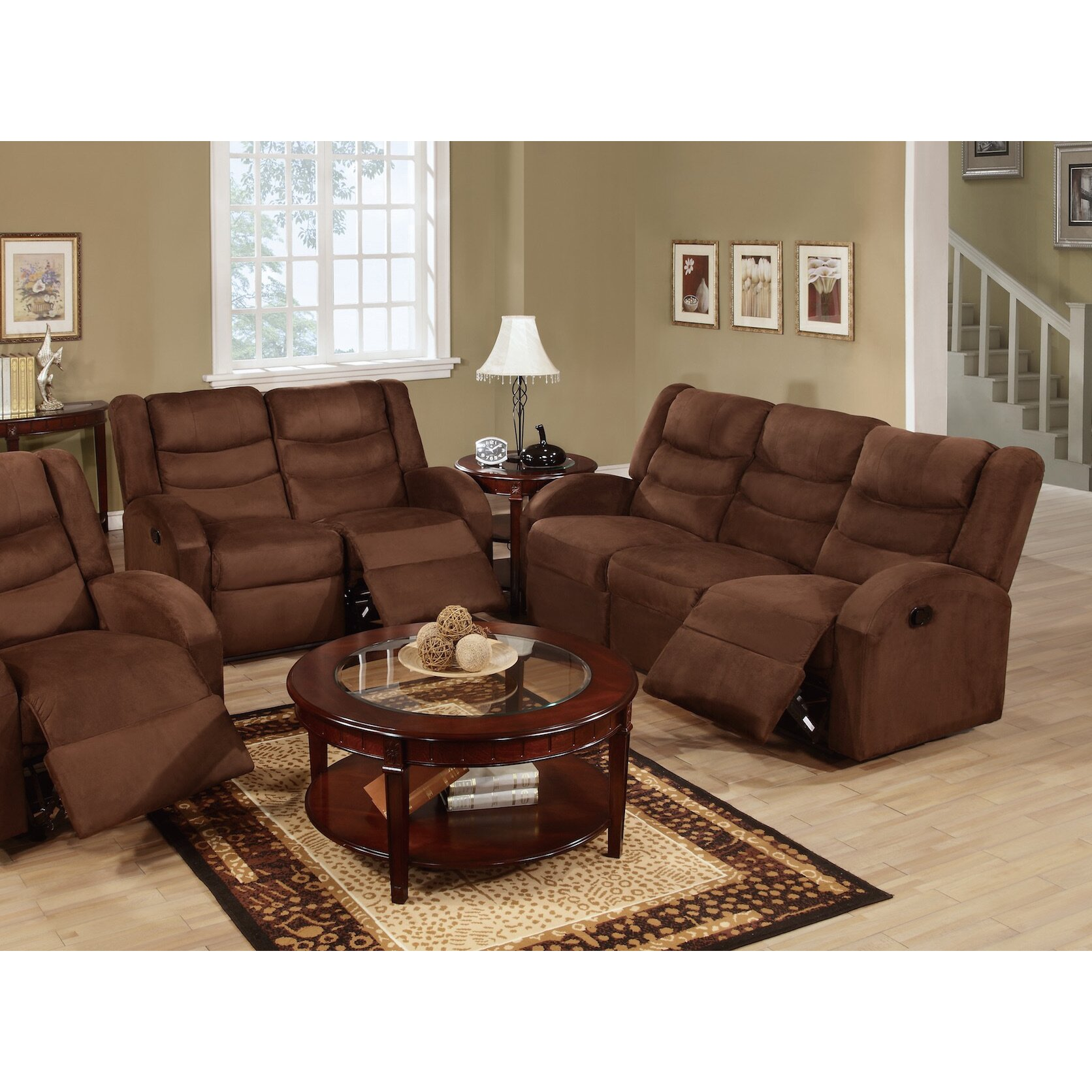 Reclining sofas and loveseats sets living room reclining microfiber sofa and loveseat set Microfiber sofa and loveseat set