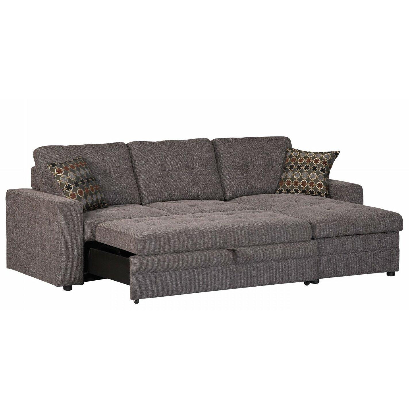 infini furnishings sleeper sectional reviews wayfair. Black Bedroom Furniture Sets. Home Design Ideas