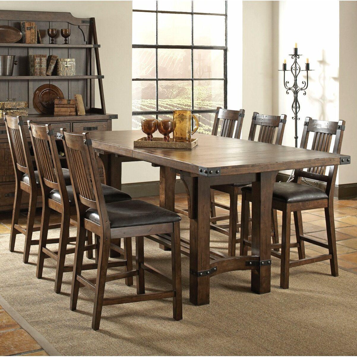 Infini Furnishings 7 Piece Counter Height Dining Set  : 7 Piece Counter Height Dining Set INF105708 9JB from www.wayfair.com size 1202 x 1202 jpeg 477kB