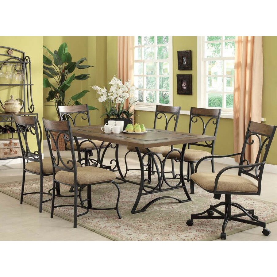 Infini furnishings 7 piece dining set wayfair for 7 piece dining room set