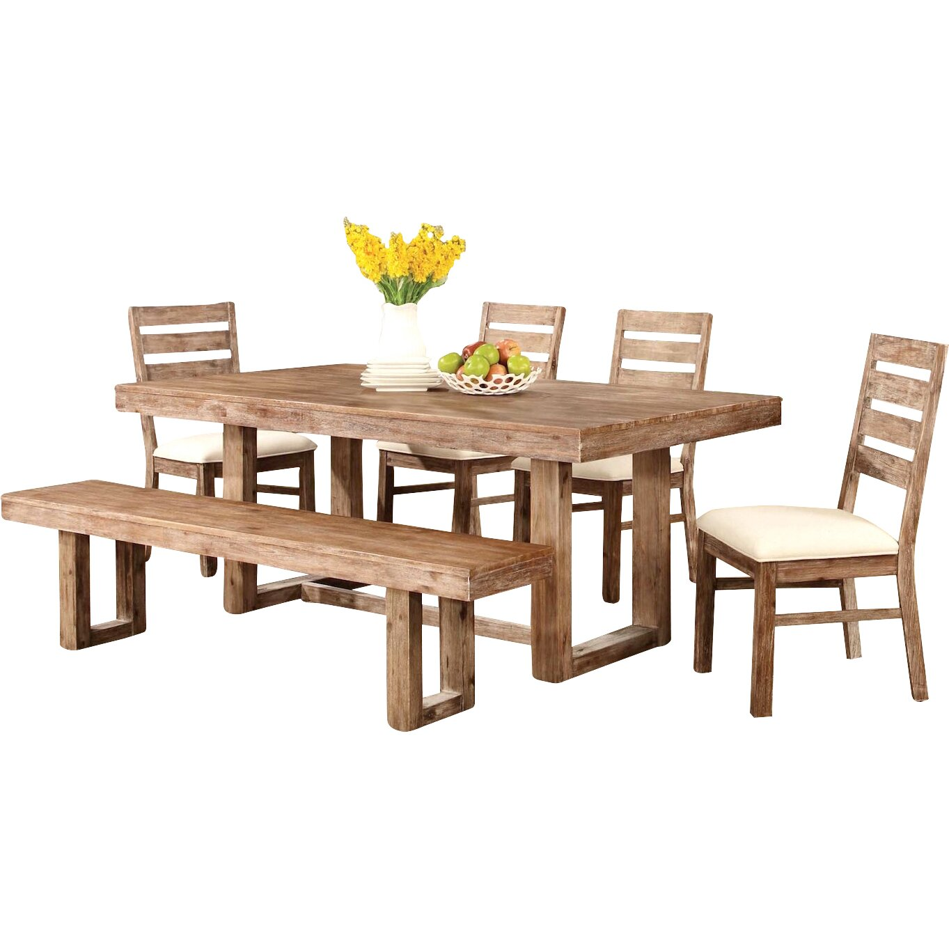 Infini furnishings underwood 6 piece dining set reviews for 2 piece dining room set
