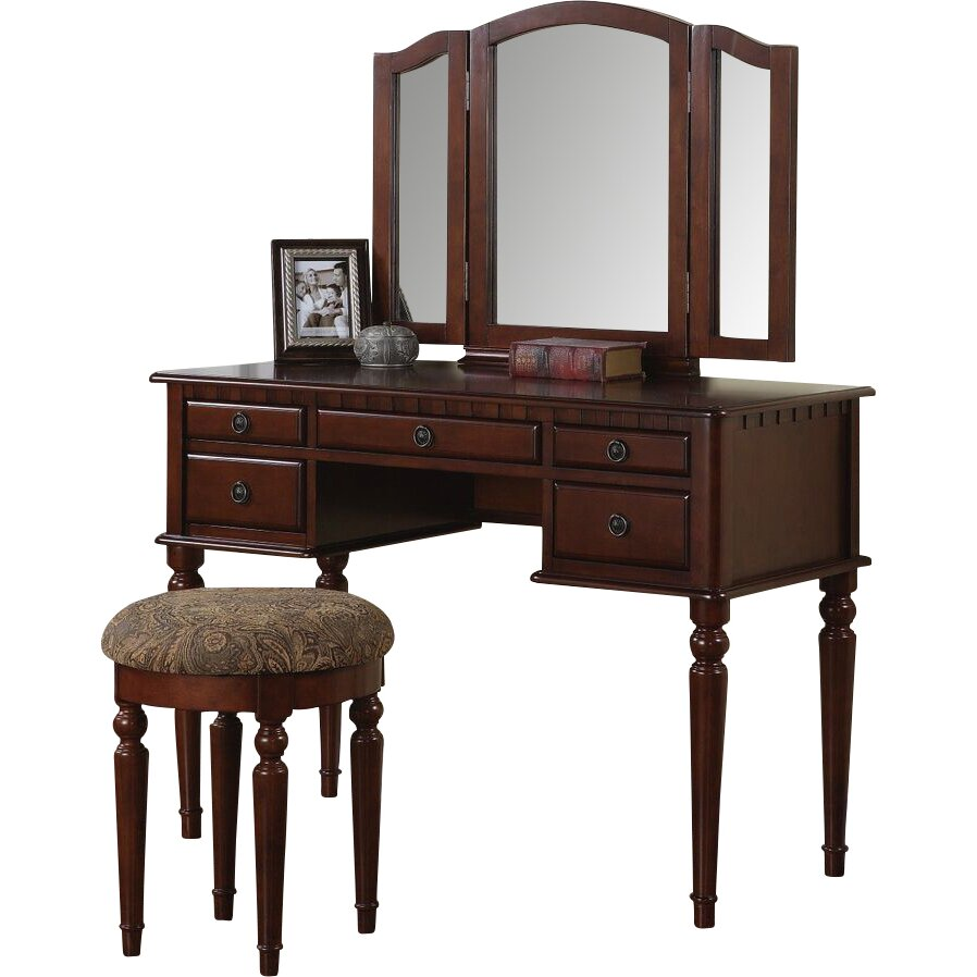 infini furnishings elvire vanity set with mirror reviews wayfair