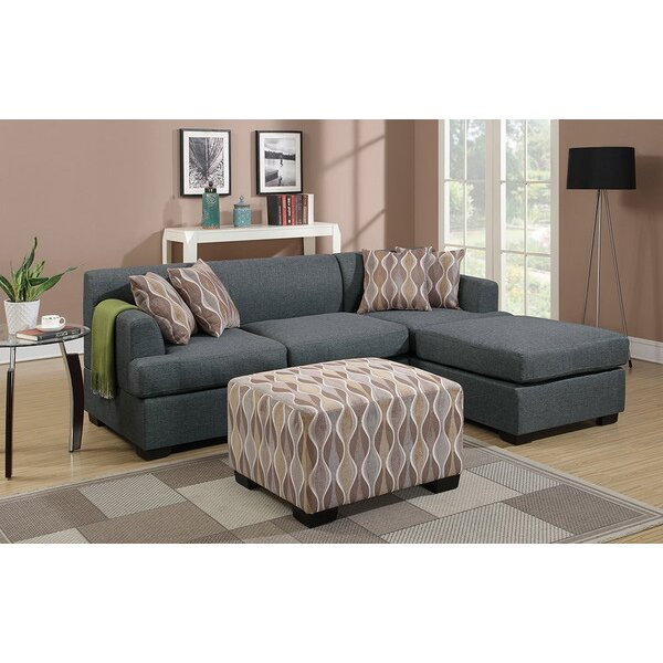 Infini furnishings reversible chaise sectional wayfair for Sectional sofa reversible chaise living room furniture
