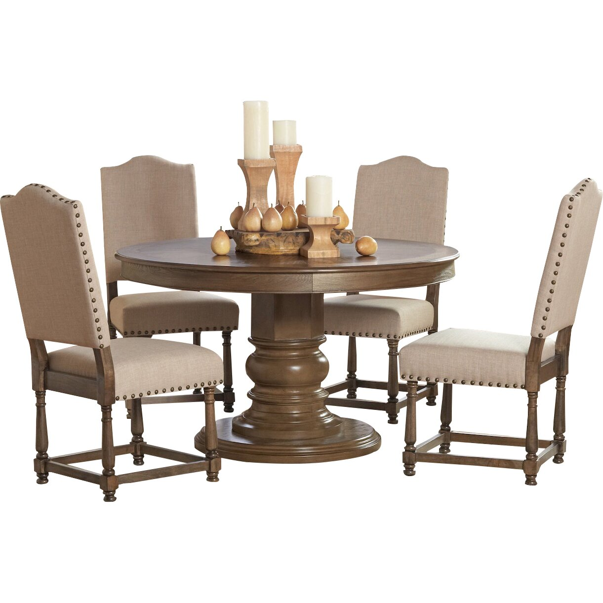 Infini furnishings 5 piece dining set reviews wayfair for 5 piece dining set