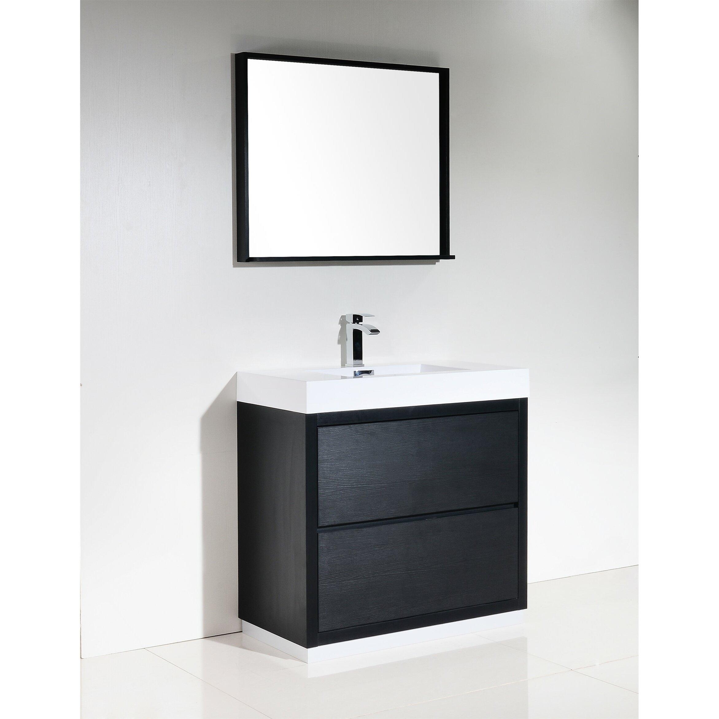 kube bath bliss 36 single free standing modern bathroom vanity set reviews. Black Bedroom Furniture Sets. Home Design Ideas