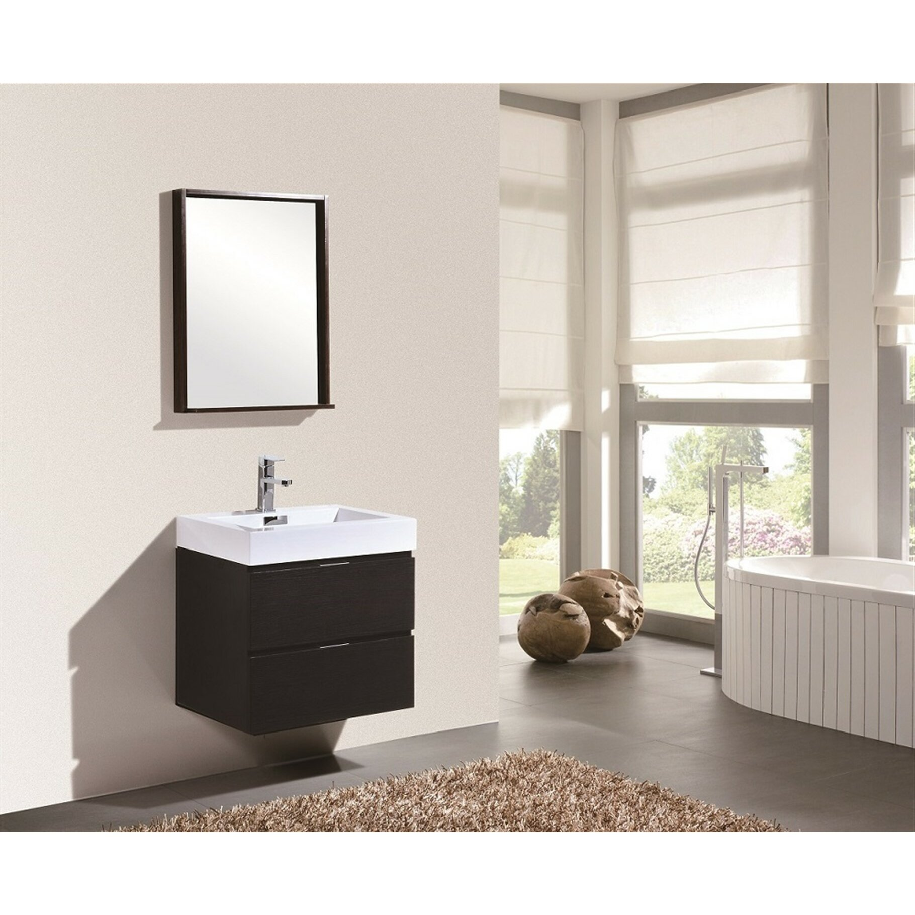 Kube Bath Bliss 24 Single Wall Mount Modern Bathroom