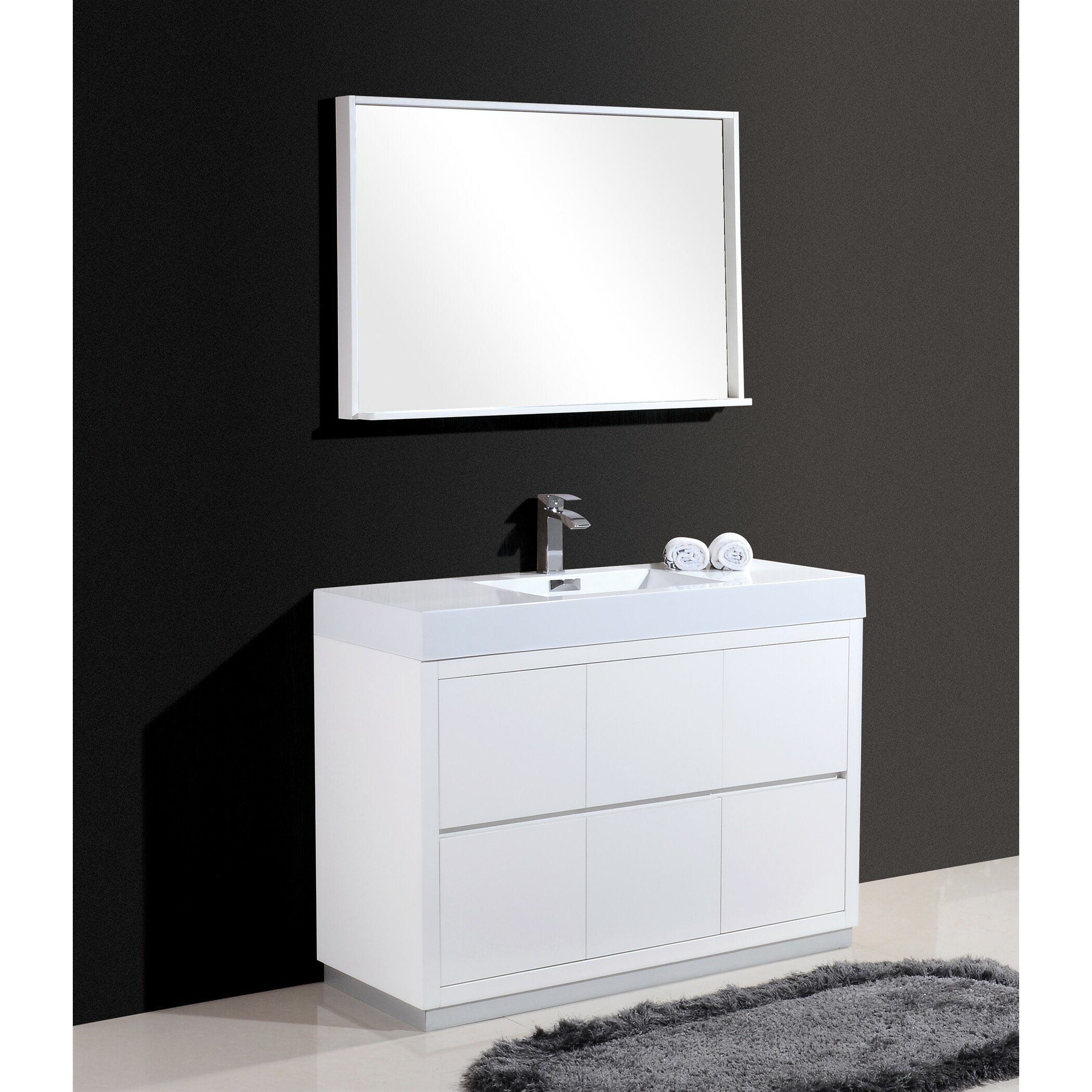 Kube Bath Bliss 48 Single Free Standing Modern Bathroom Vanity Set Reviews