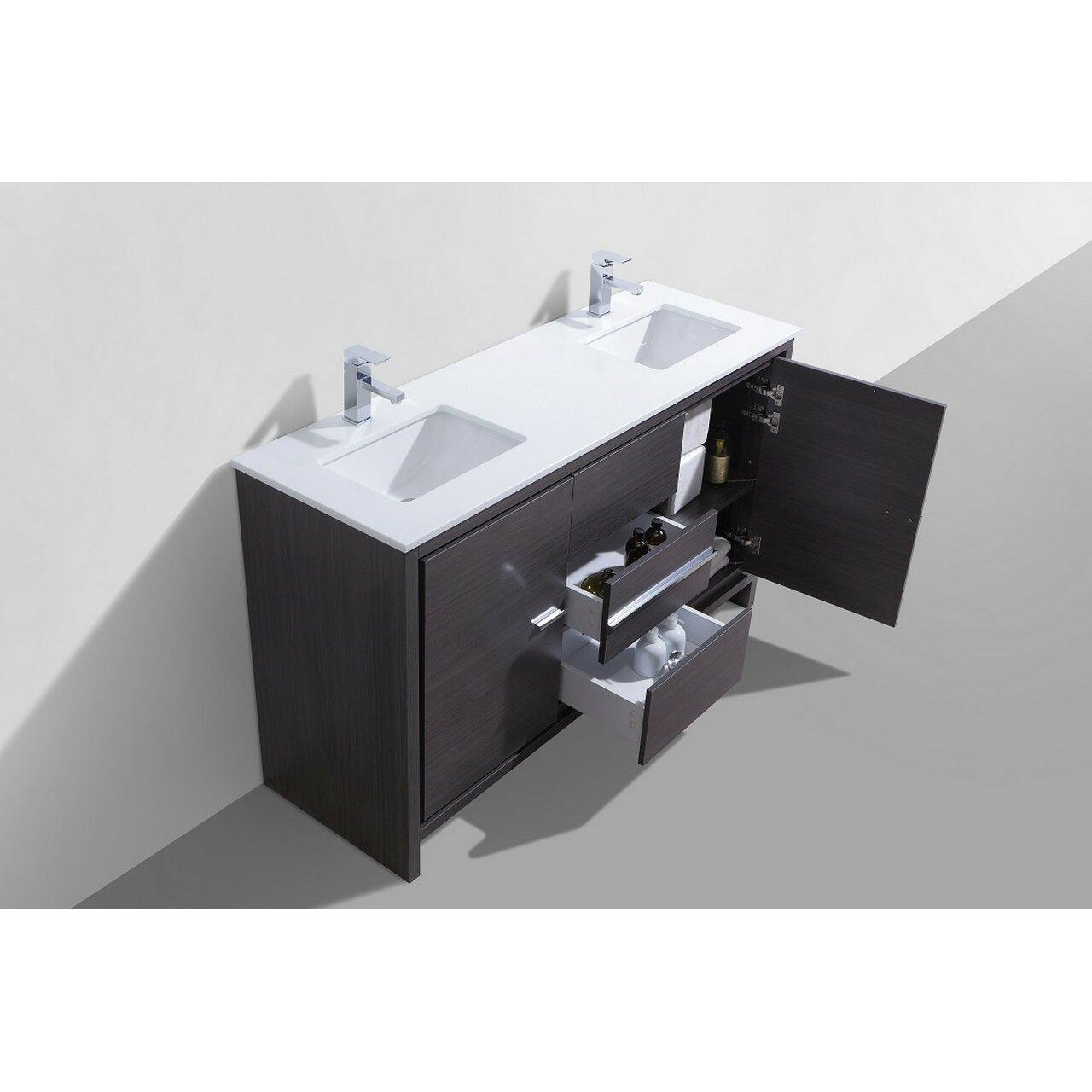 Kube bath dolce 60 double sink modern bathroom vanity reviews - Modern bathroom vanity double sink ...