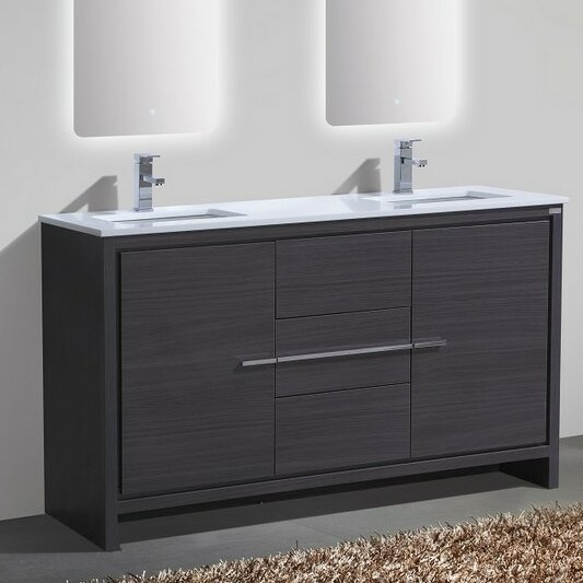 bathroom vanities 60 double sink kube bath dolce 60 quot sink modern bathroom vanity 22454