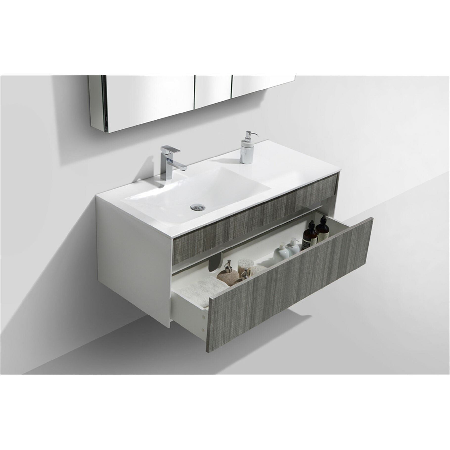 Kube bath tona fitto 48 single modern bathroom vanity set reviews wayfair - Kona modern bathroom vanity set ...