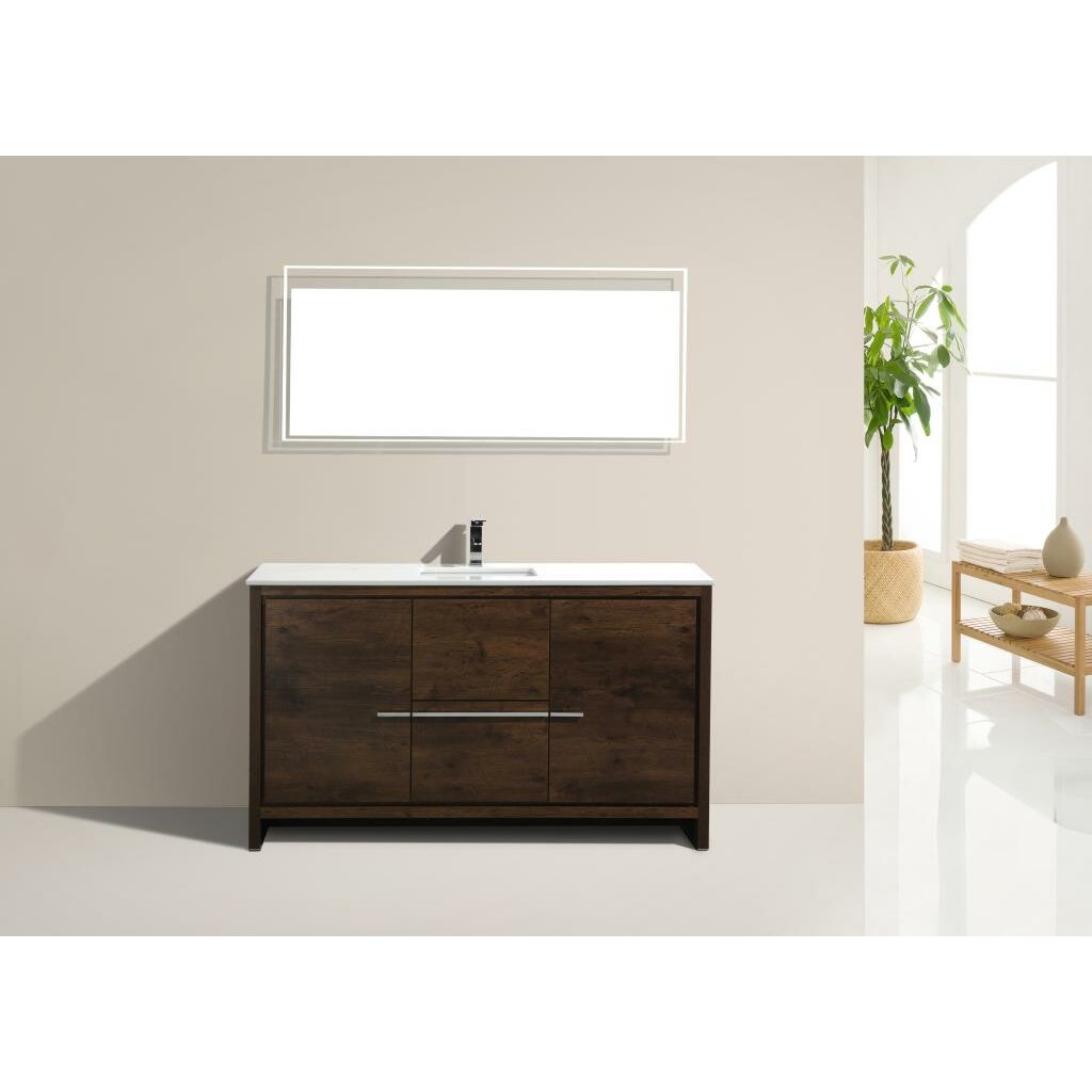 Kube bath dolce 60 single modern bathroom vanity set reviews wayfair - Linden modern bathroom vanity set ...
