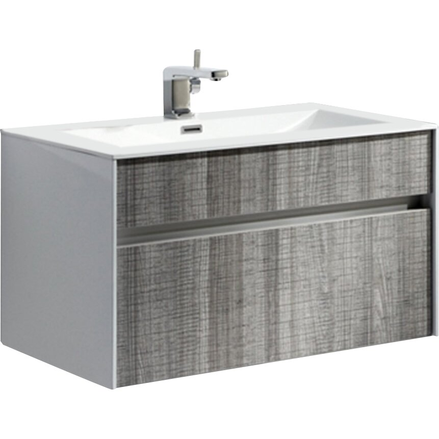 Kube bath fitto 24 single modern bathroom vanity set reviews wayfair - Linden modern bathroom vanity set ...