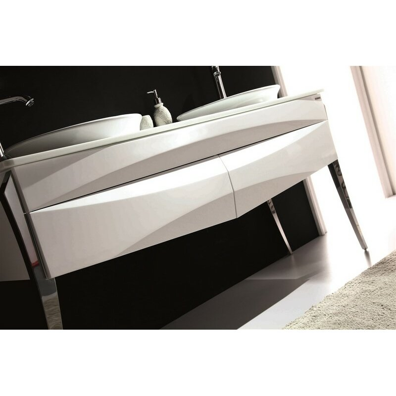 Kube Bath Riso 64 Double Sink Modern Bathroom Vanity Wayfair